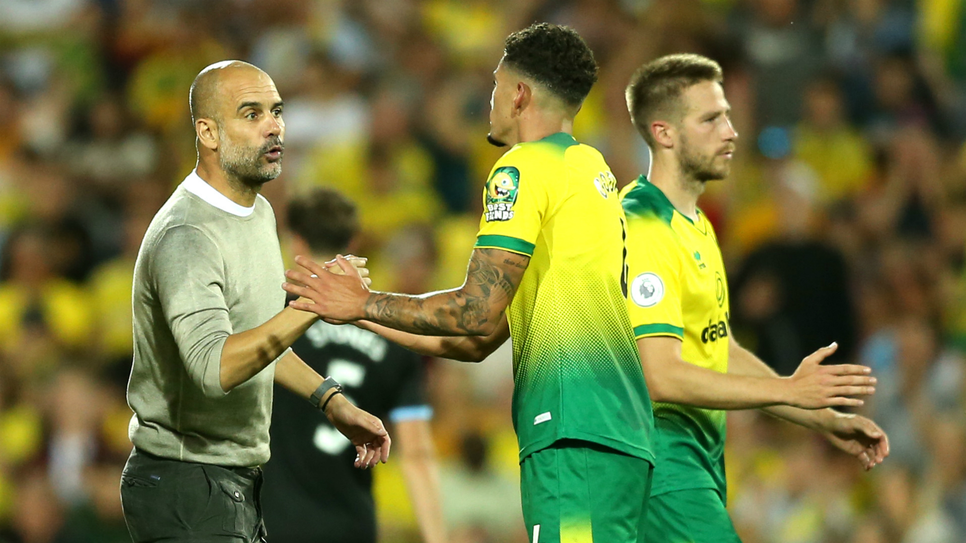 Guardiola congratulates clinical Canaries