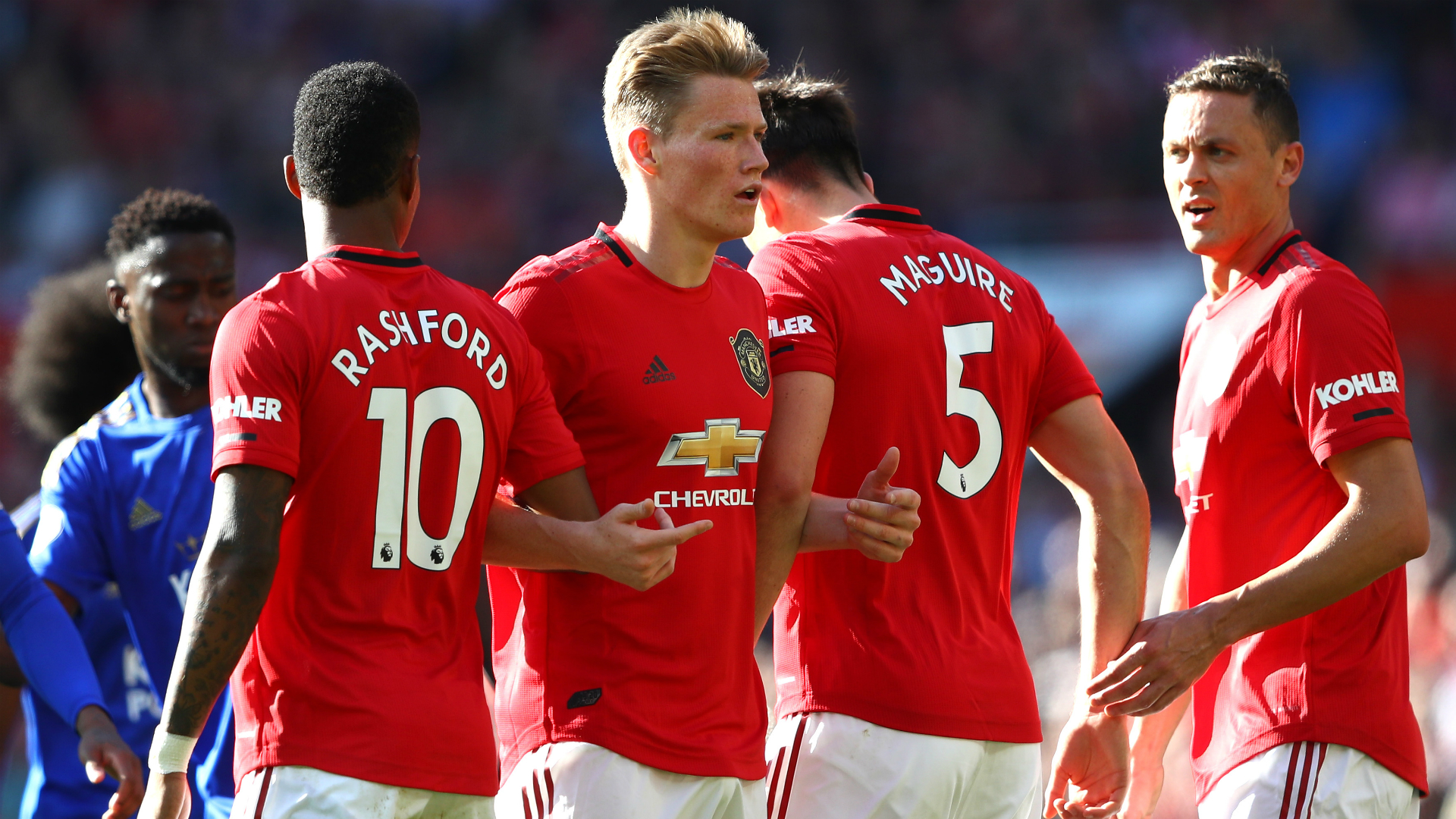 Solskjaer lauds 'leader' McTominay after battling win over Leicester