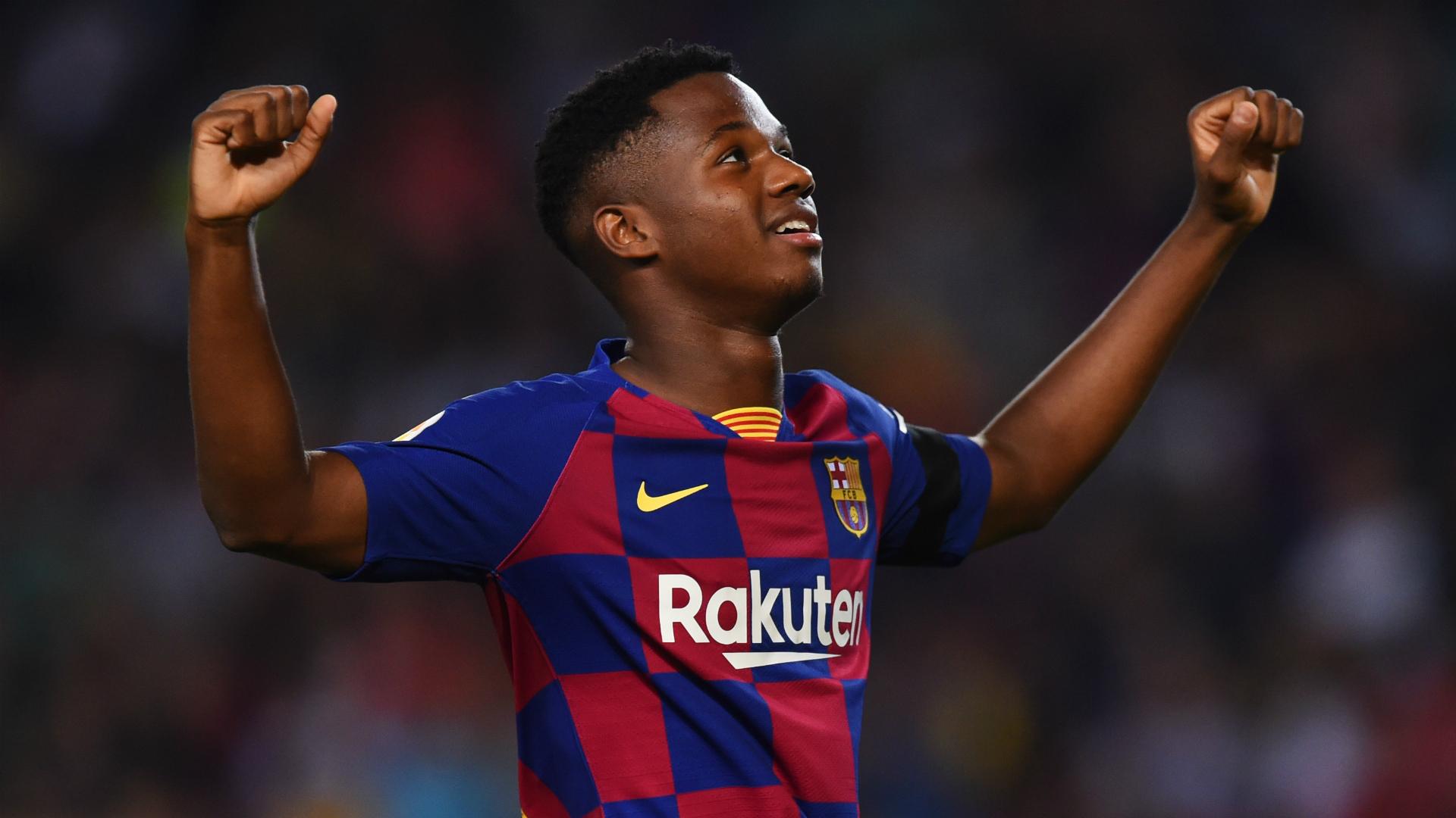 Ansu Fati starts for Barcelona against Dortmund, Lionel Messi benched