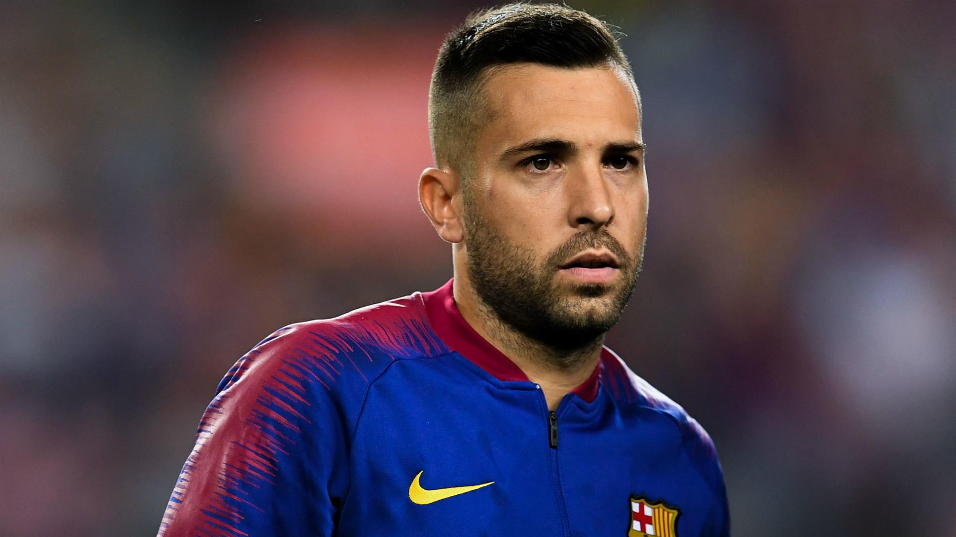 Barca left-back Alba sidelined with hamstring injury