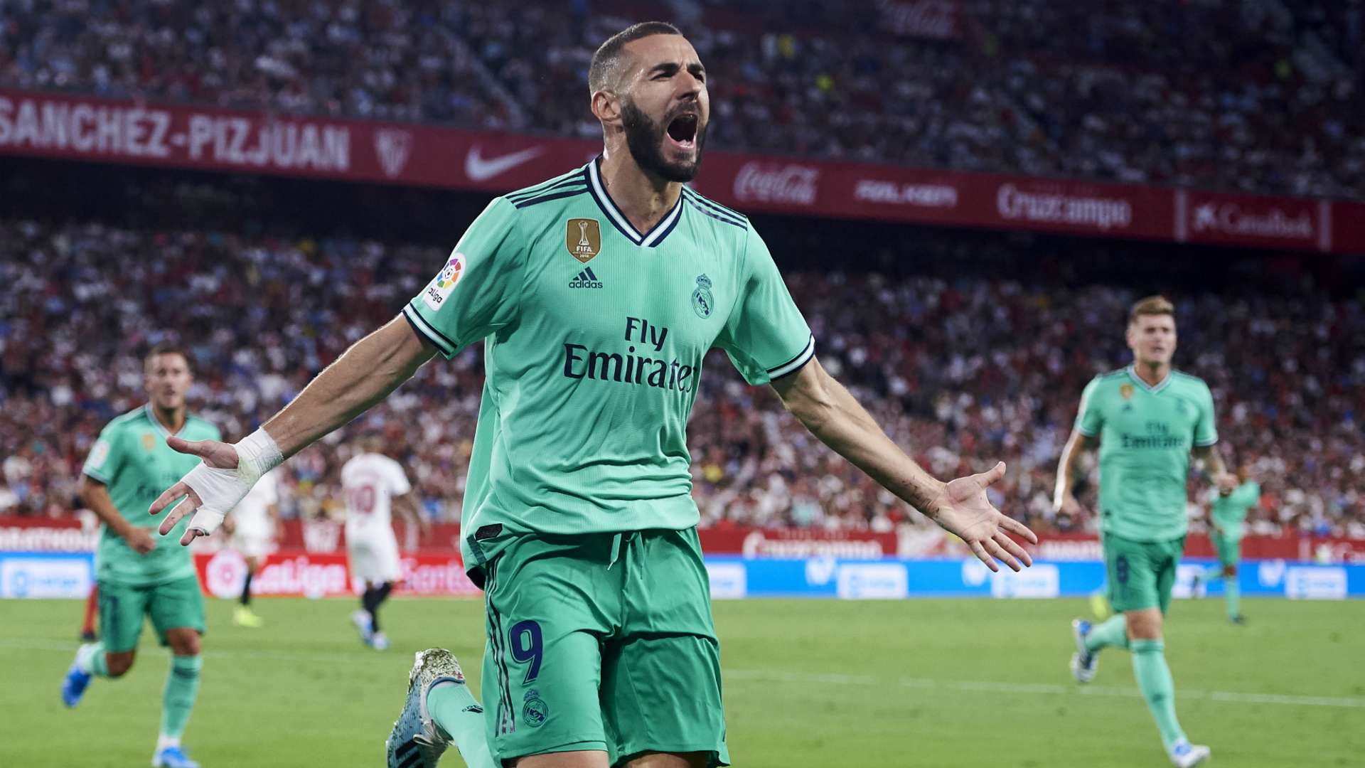 Sevilla 0 1 Real Madrid Benzema Ensures Los Blancos Bounce