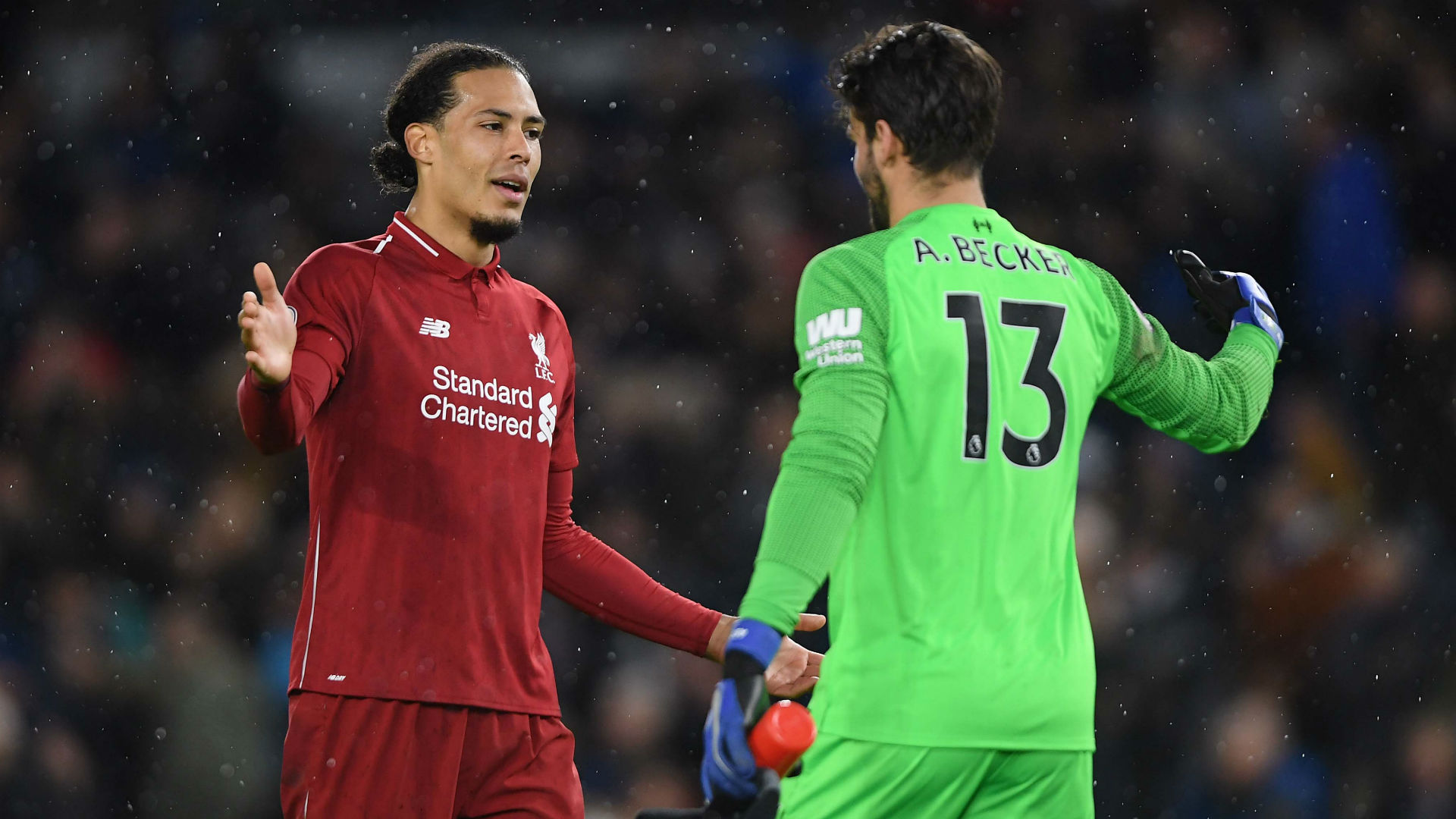 quality design f3a42 92108 Liverpool duo Alisson and Van Dijk join Messi and Ronaldo in ...