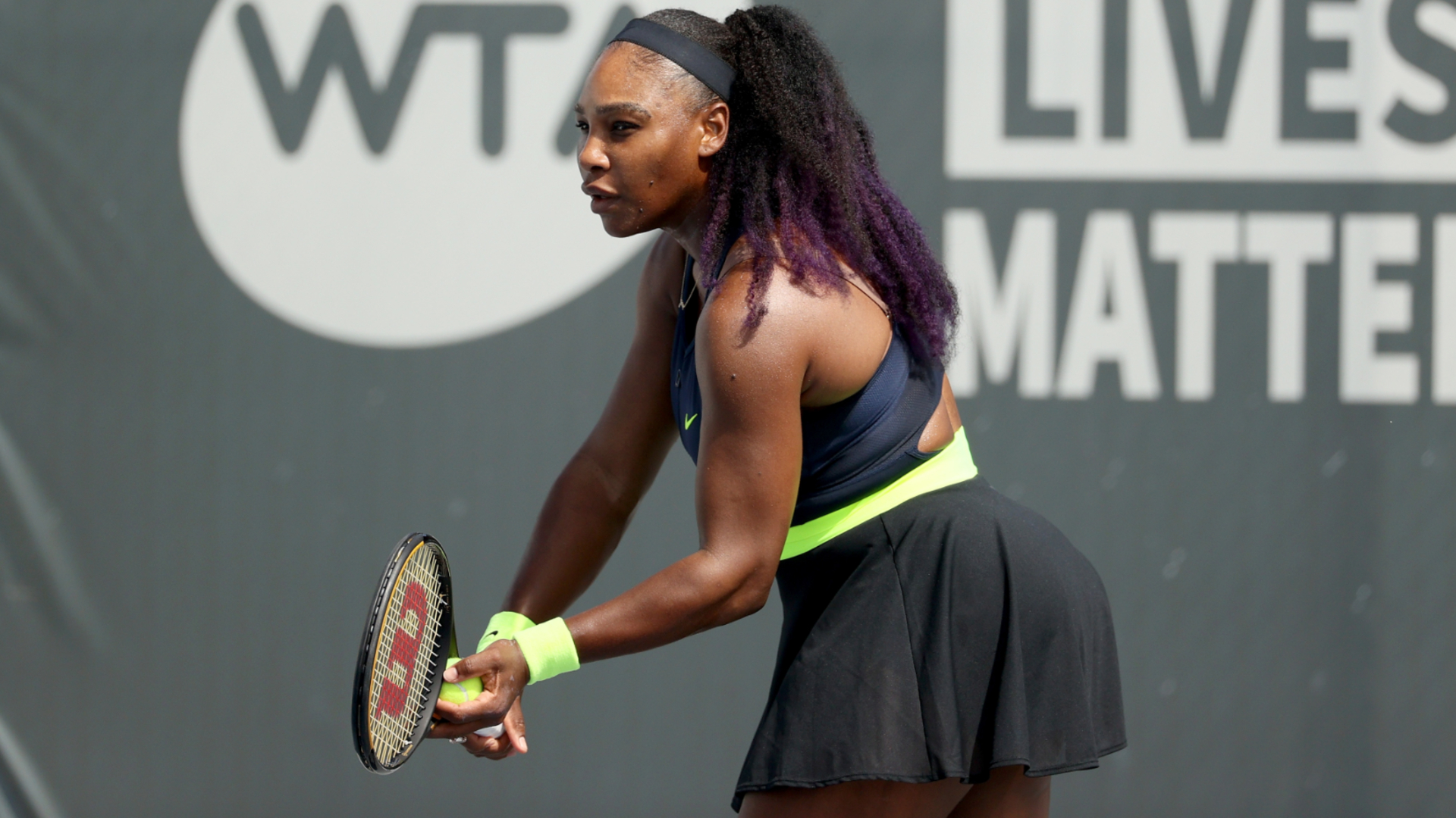 Serena Williams makes winning return in three-set battle with Pera