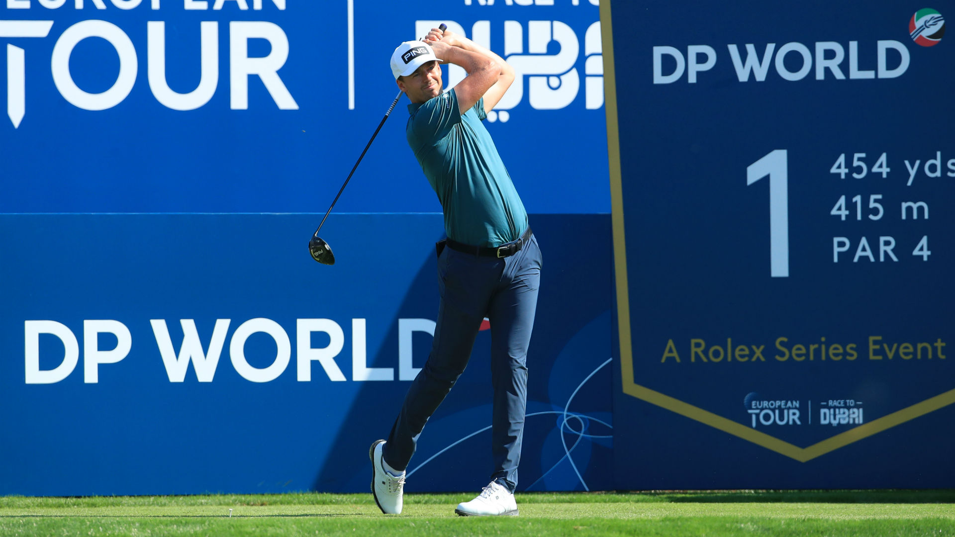 Perez on course for delightful double at DP World Tour Championship