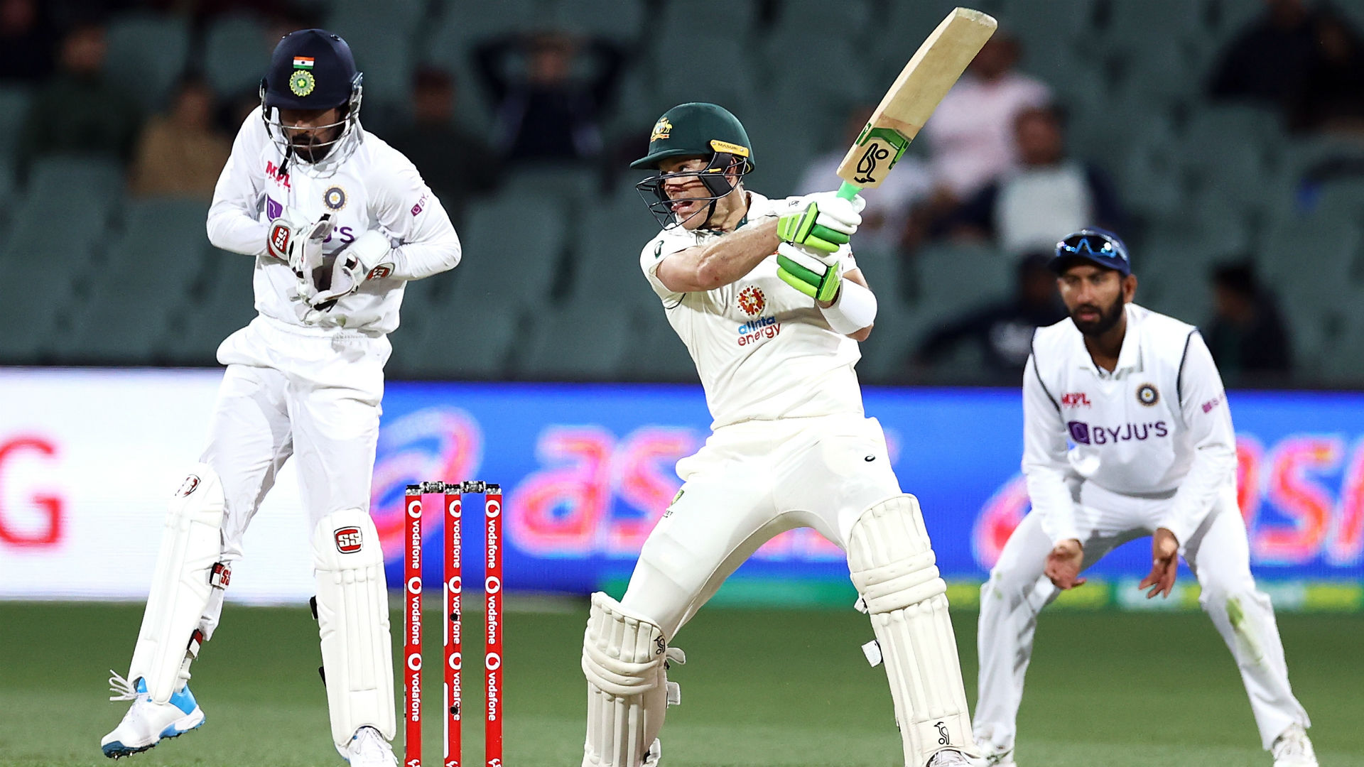 Ashwin puts Australia in a spin but Paine hurts India's hopes in Adelaide