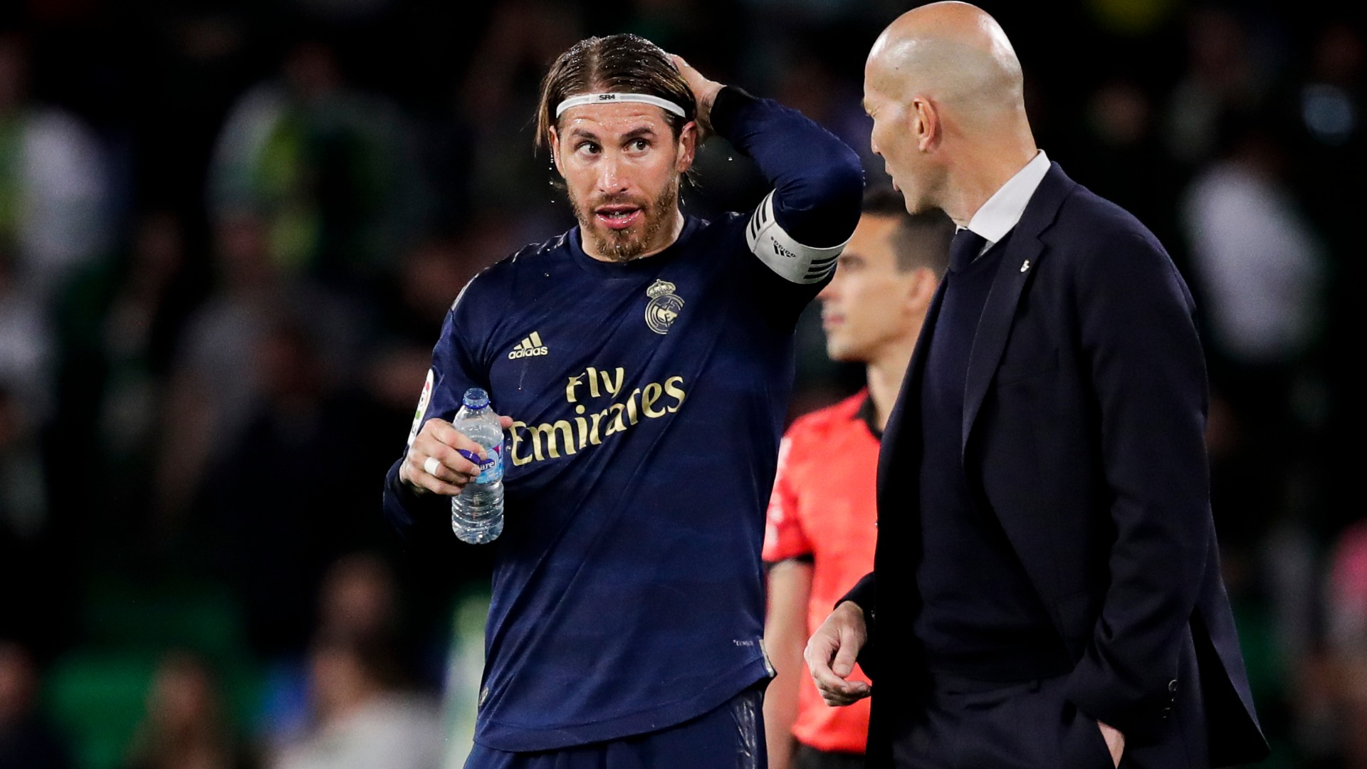 Zidane not looking to discuss new Madrid contract but hopes Ramos will stay on