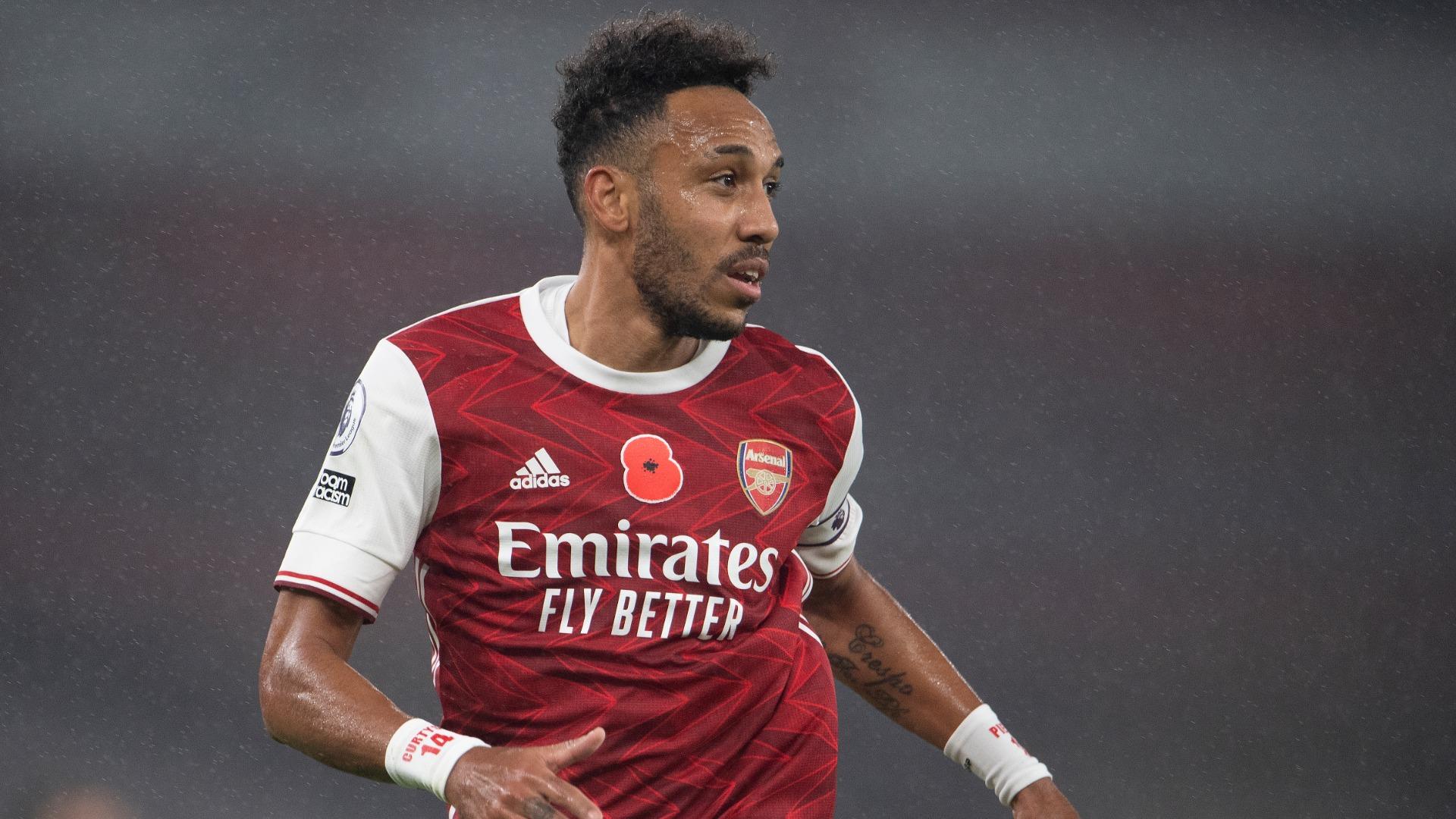 Arsenal's Aubameyang misses Everton clash with calf injury