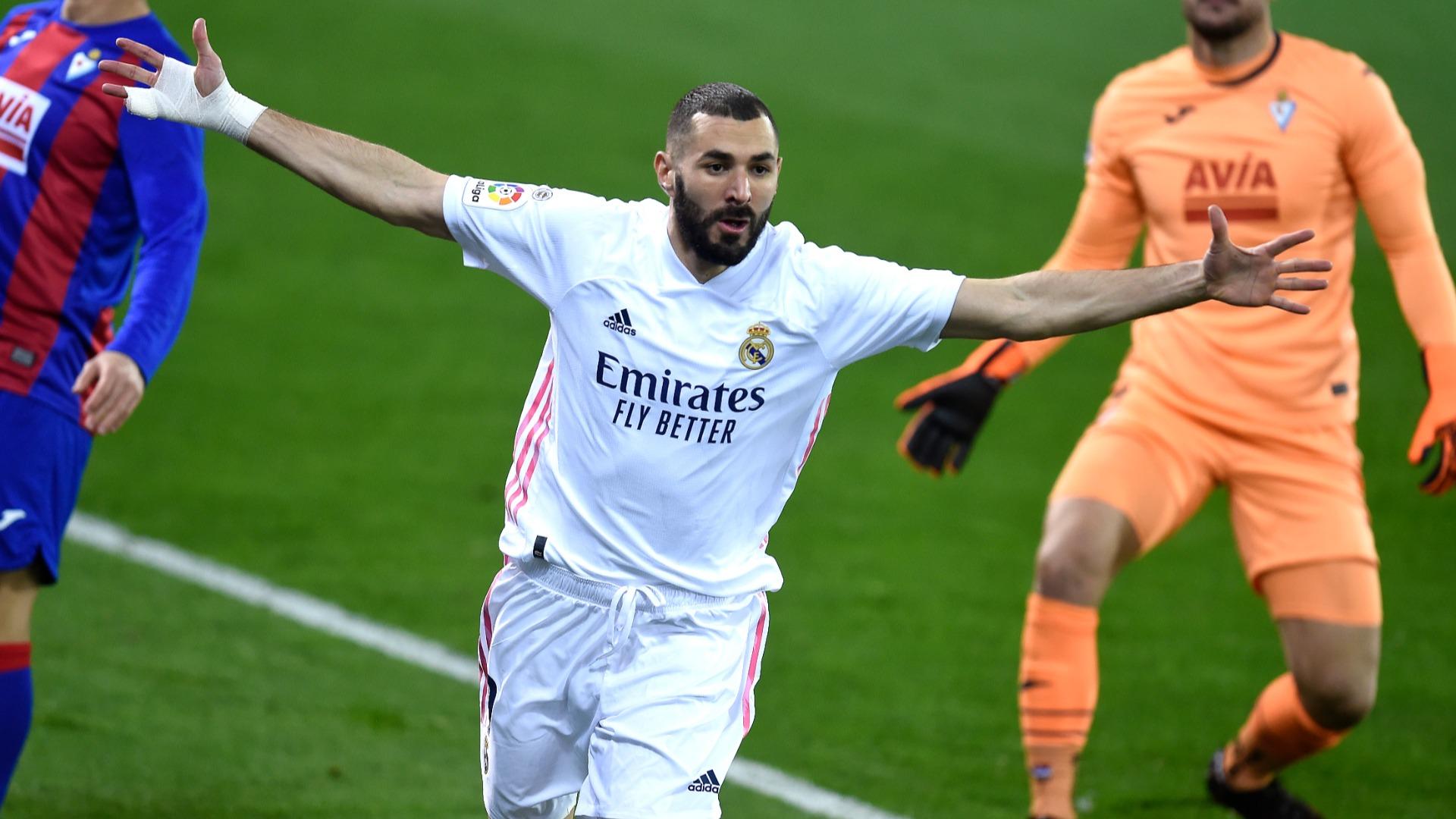 Eibar 1-3 Real Madrid: Benzema stars as Los Blancos go second