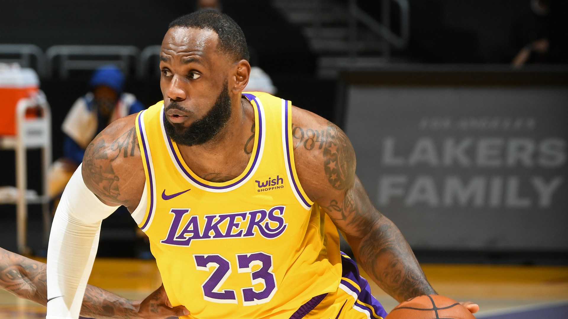 LeBron James offers update on hurt ankle after struggling to process Lakers series opener