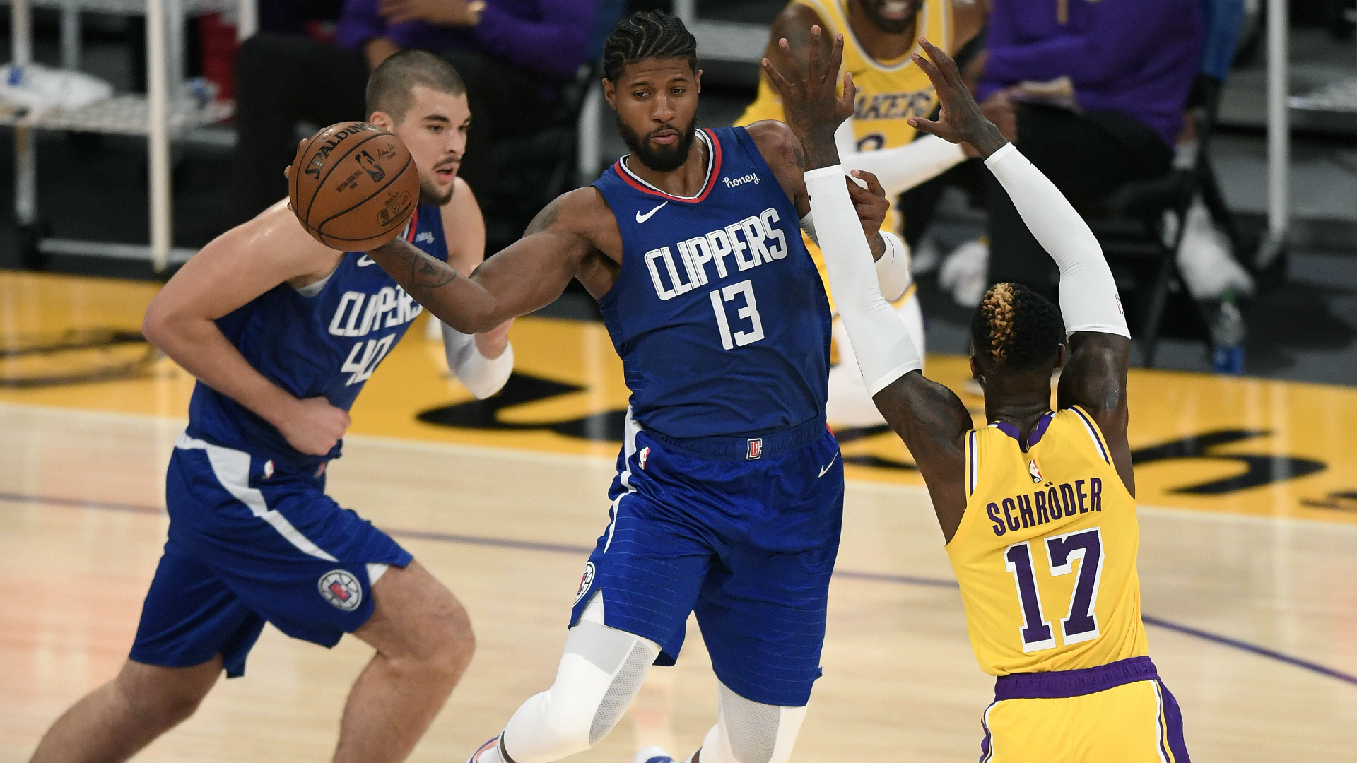 George and Kawhi lead Clippers past LeBron's Lakers in season opener