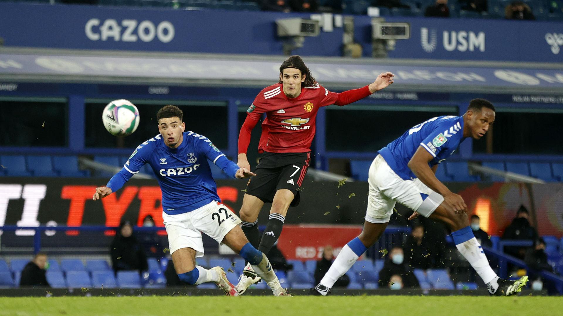 Everton 0-2 Manchester United: Cavani magic breaks Goodison hearts