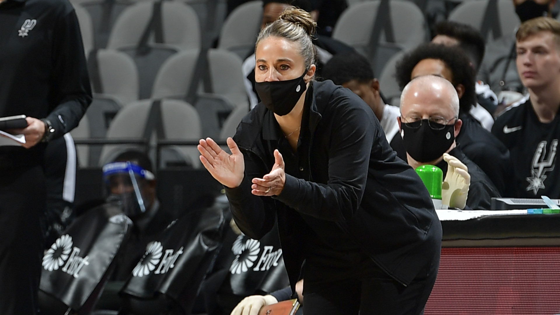 Spurs' Hammon becomes first woman to act as head coach in NBA history