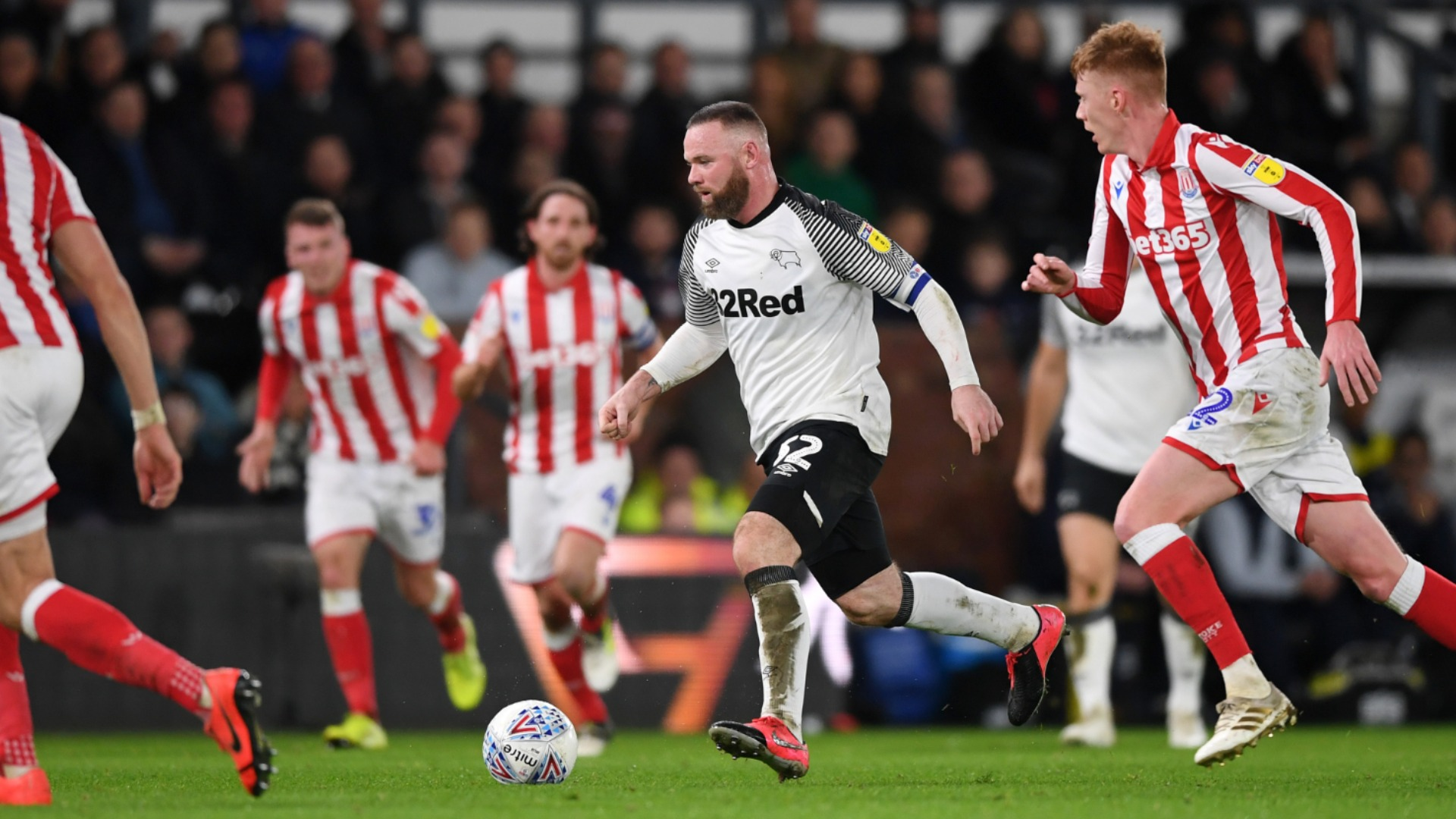Championship: Rooney stunner helps Derby crush in-form Stoke