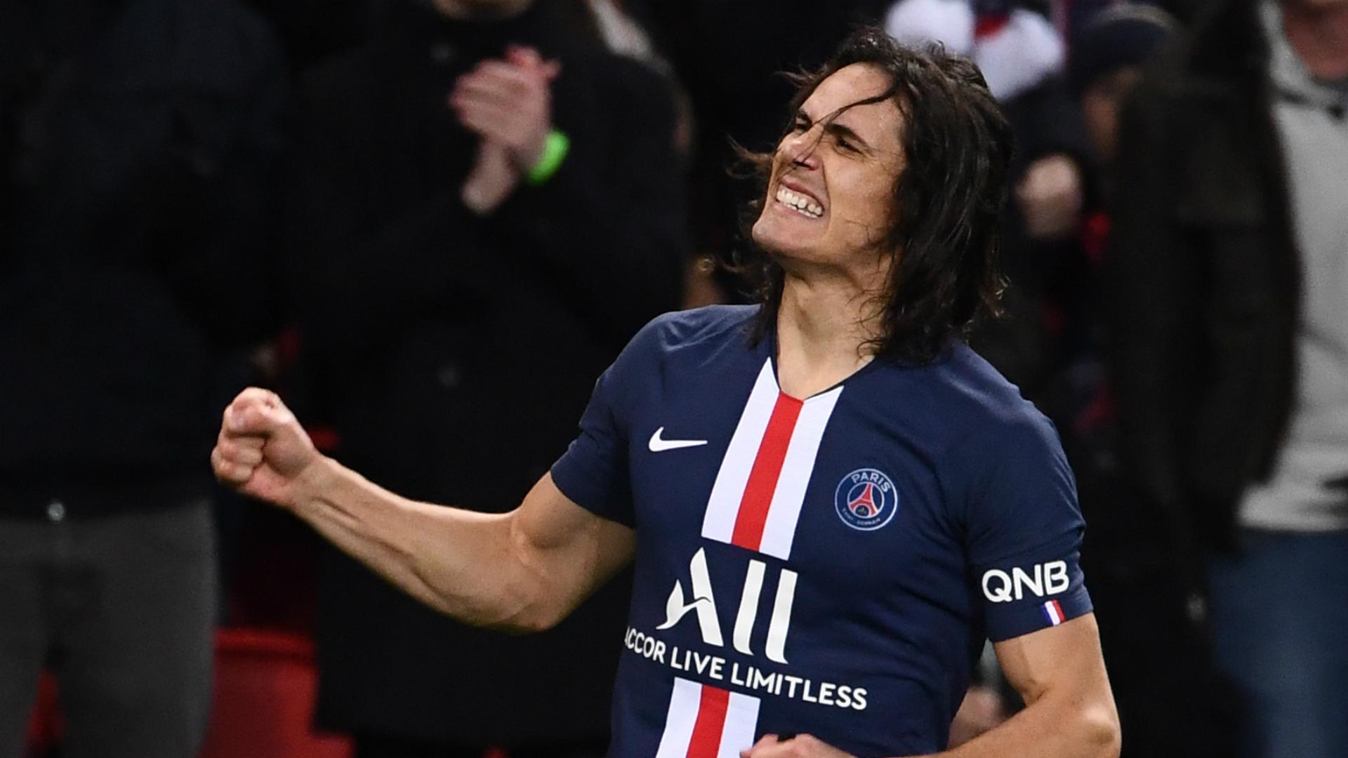 Paris Saint-Germain 4-2 Lyon: Cavani on target as Tuchel's men hold off fightback