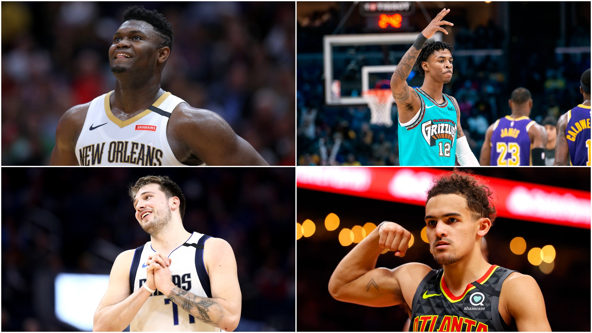 Zion, Morant & Doncic - The NBA prodigies set to light up the Rising Stars Challenge