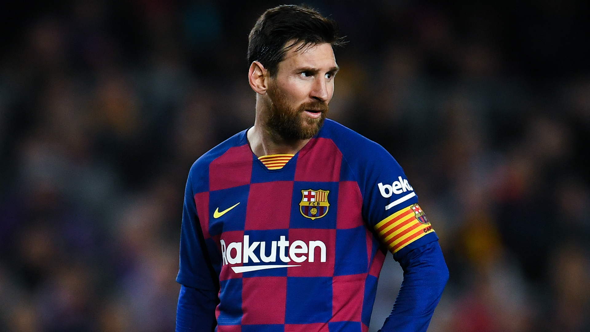 Messi comfortable at Barcelona, says Scaloni