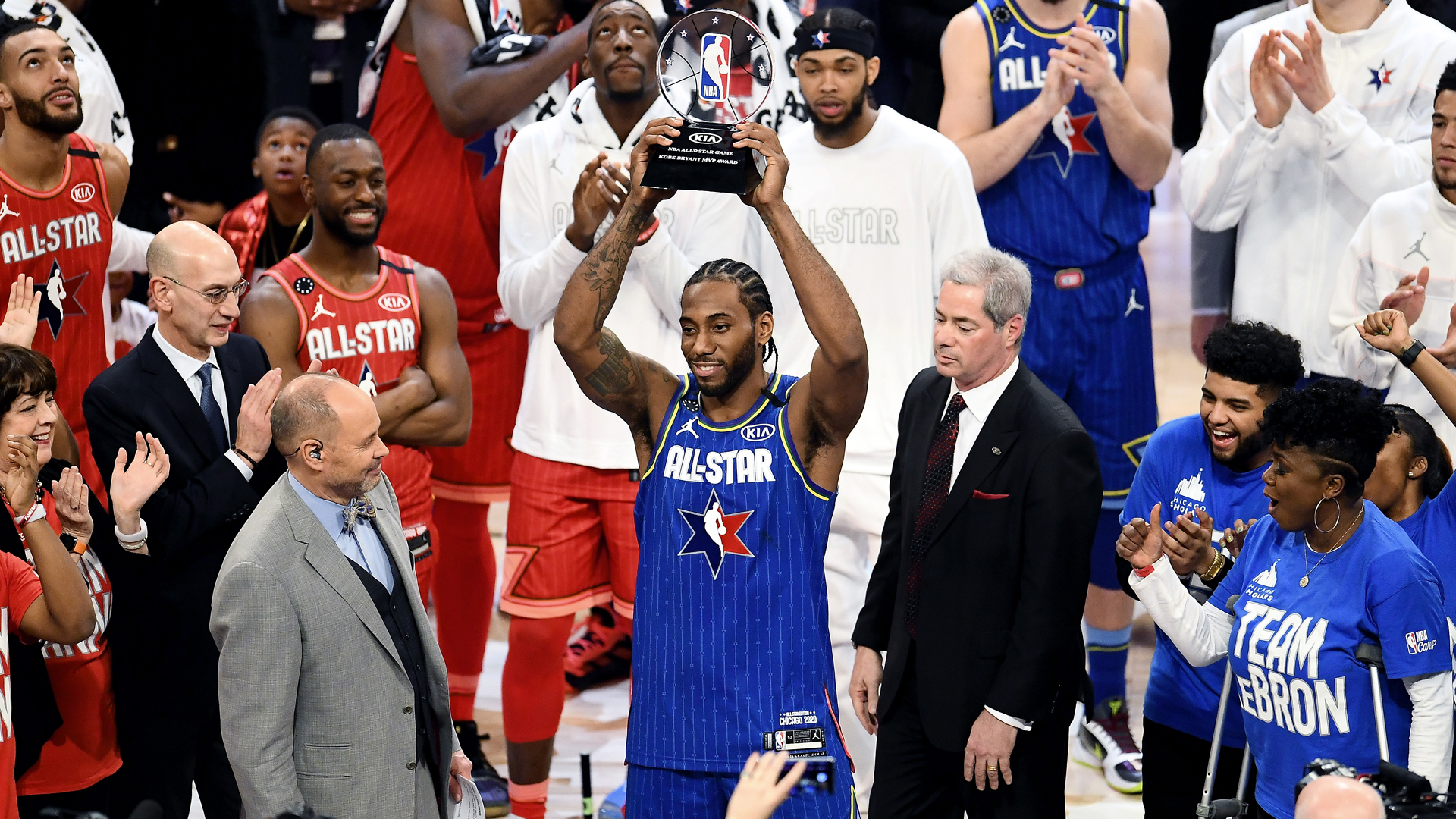 This one is for him – Leonard thanks Kobe Bryant after winning All-Star Game MVP