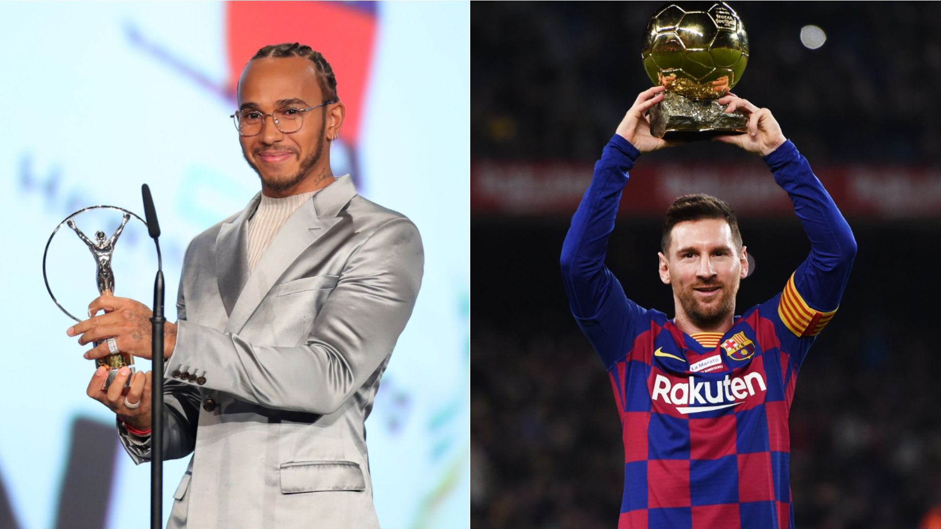 Messi and Hamilton share Laureus World Sportsman of the Year award