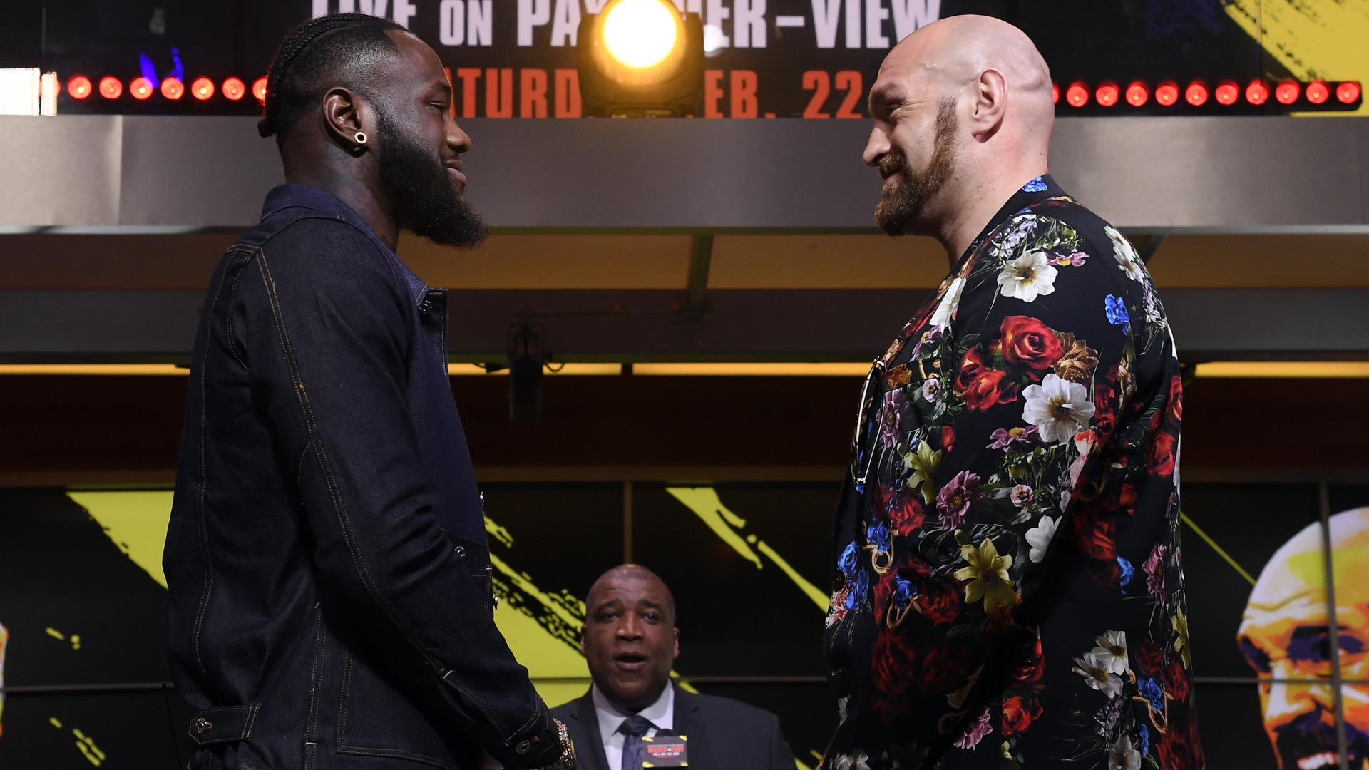Fury sees 'very nervous' Wilder as pair almost come to blows