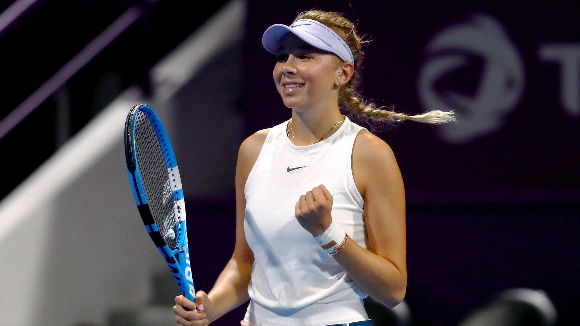 Anisimova knocks out struggling Svitolina as seeds fall in Doha