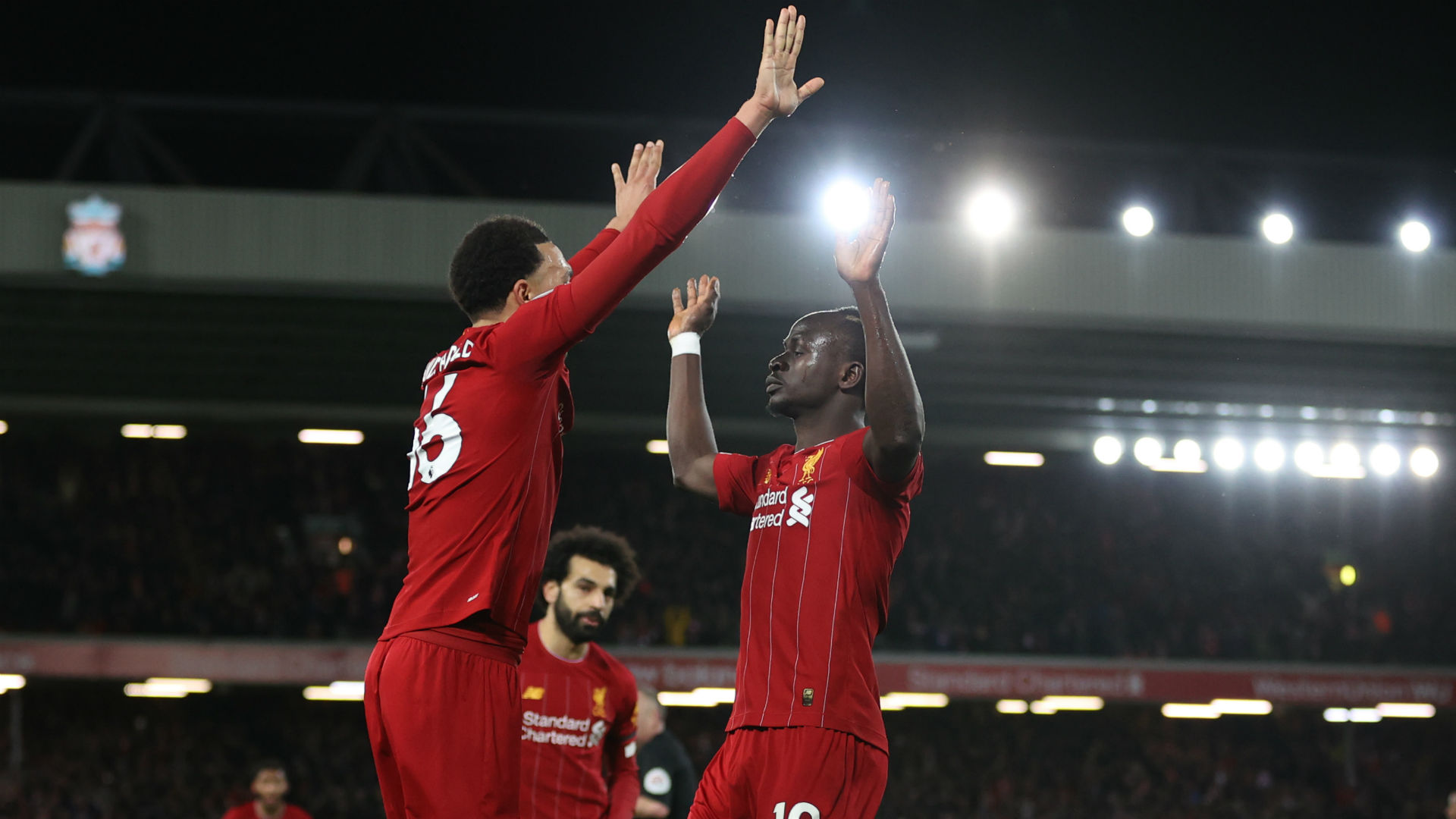 Liverpool 3-2 West Ham: Mane completes comeback as Reds match Man City record
