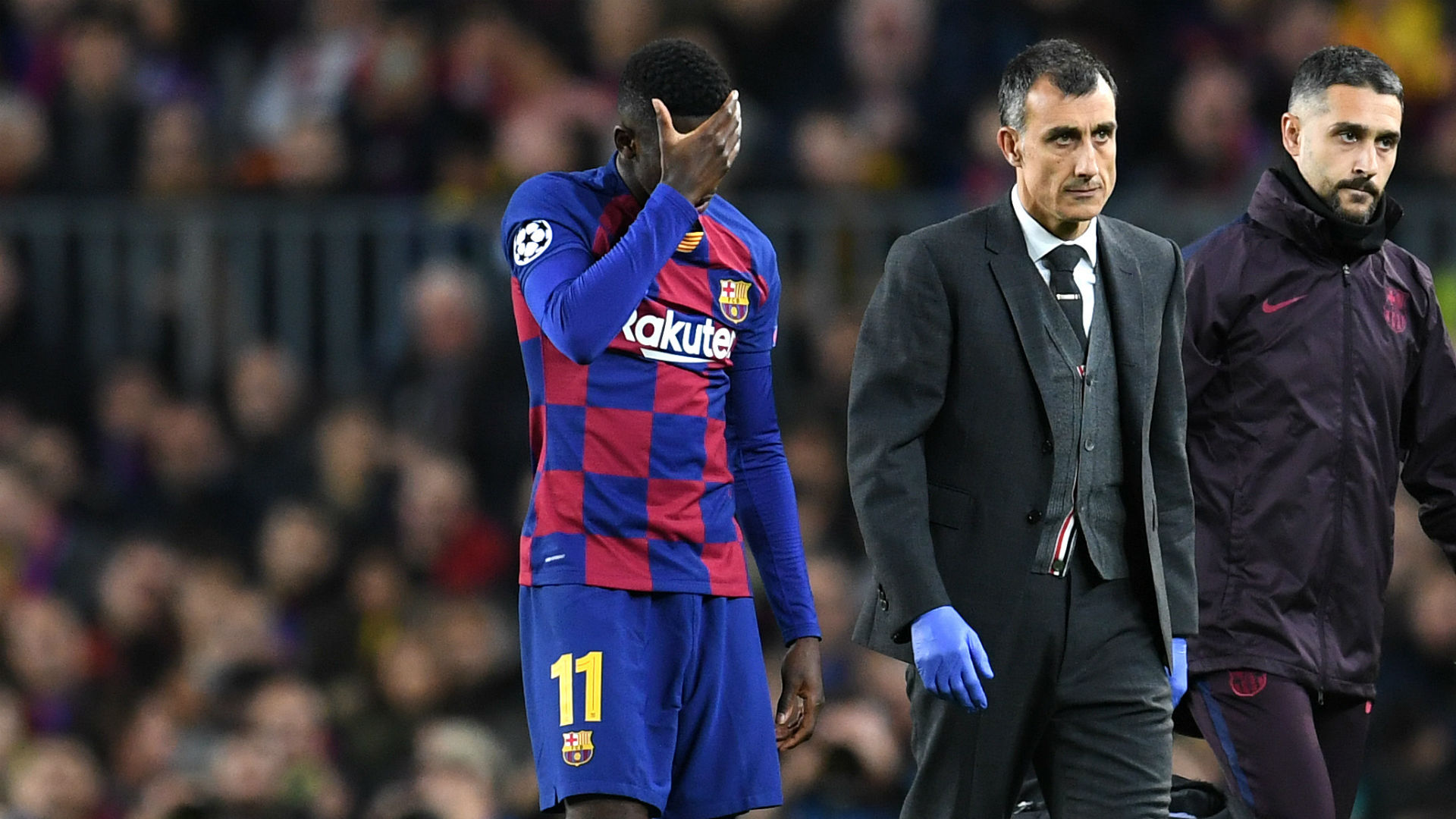 Dembele to have hamstring surgery on Tuesday, Barcelona confirm