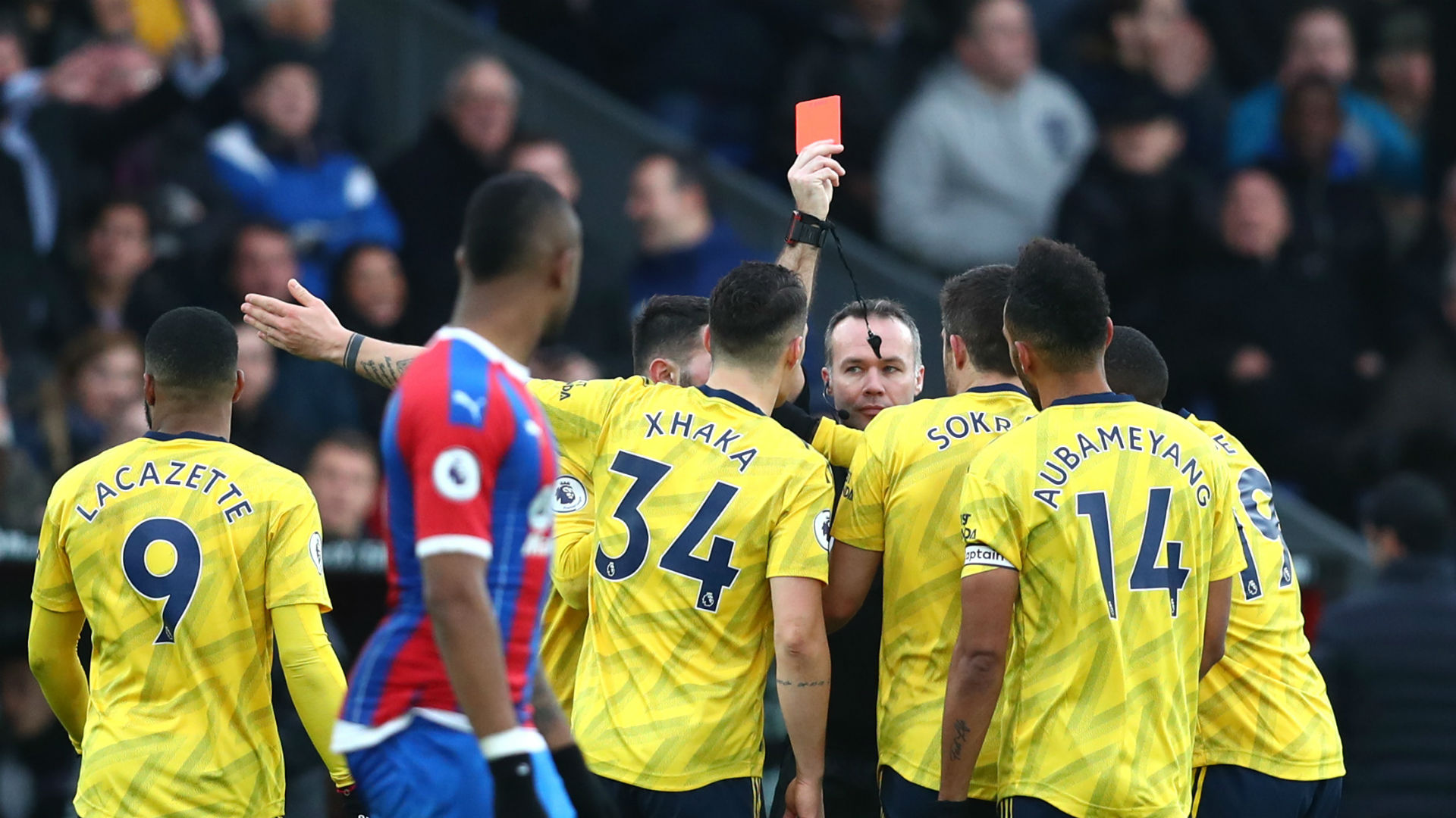 It looked nasty - Arteta has no complaints over Aubameyang's red card