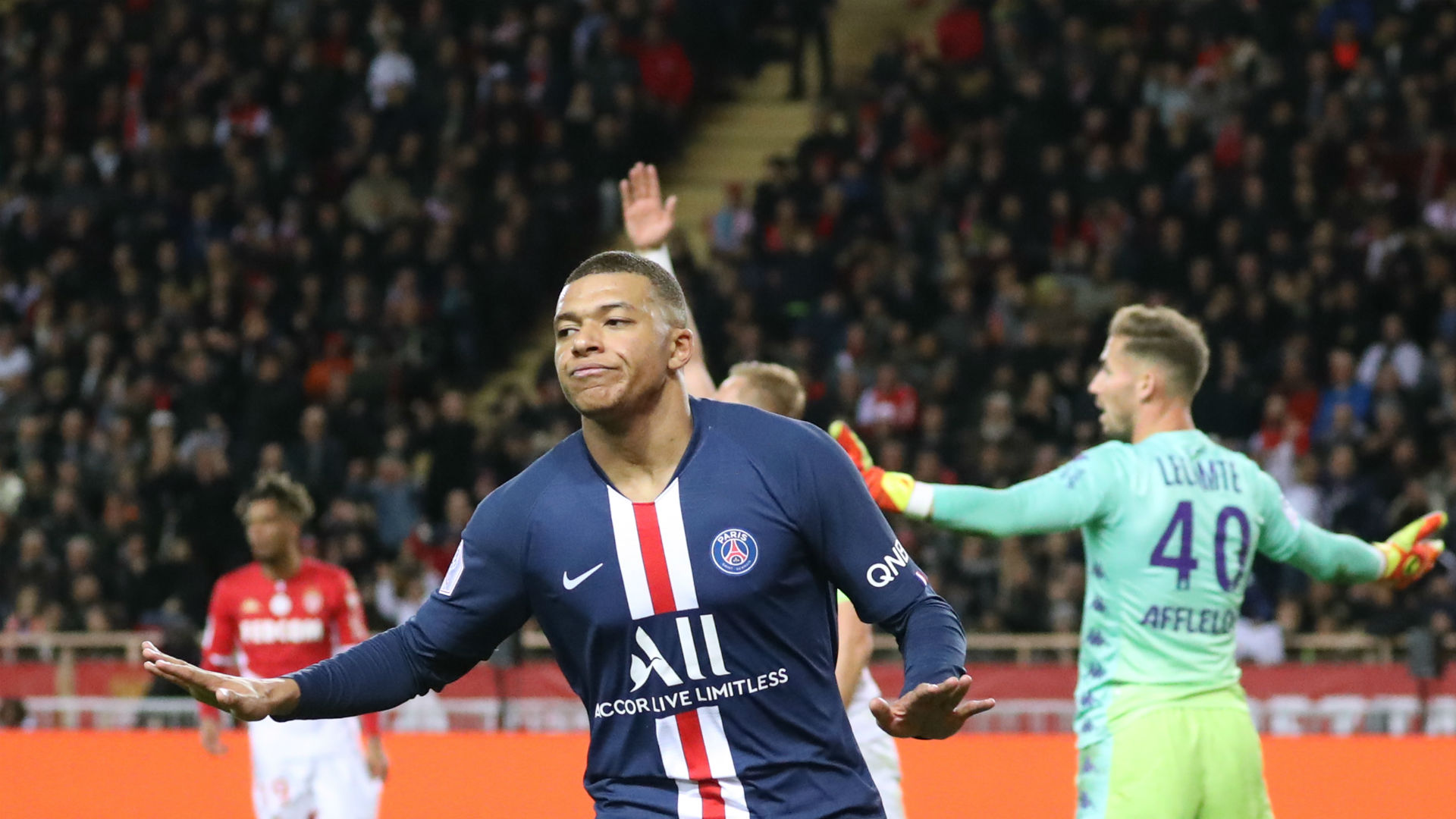 Monaco 1-4 Paris Saint-Germain: Mbappe at the double as VAR frustrates hosts