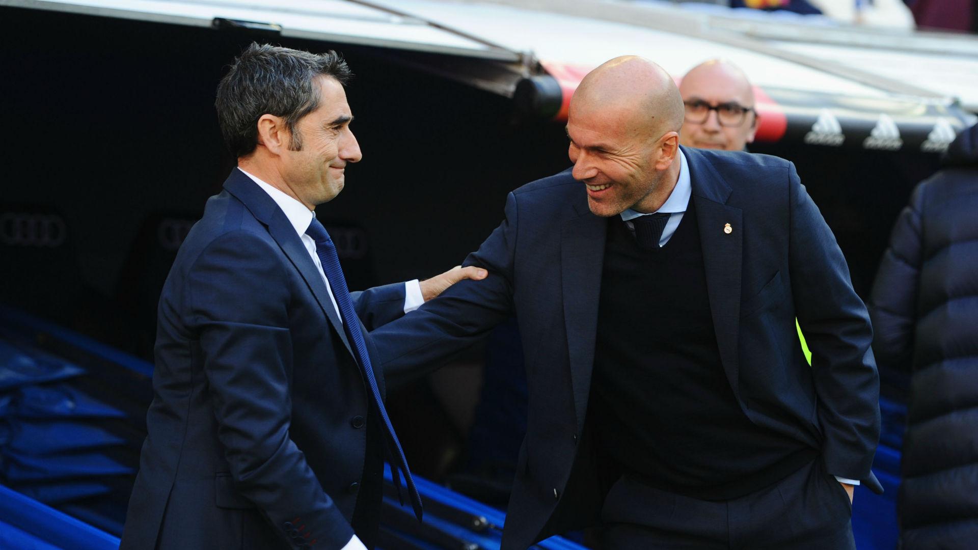 Zidane 'sorry' for sacked Barca boss Valverde