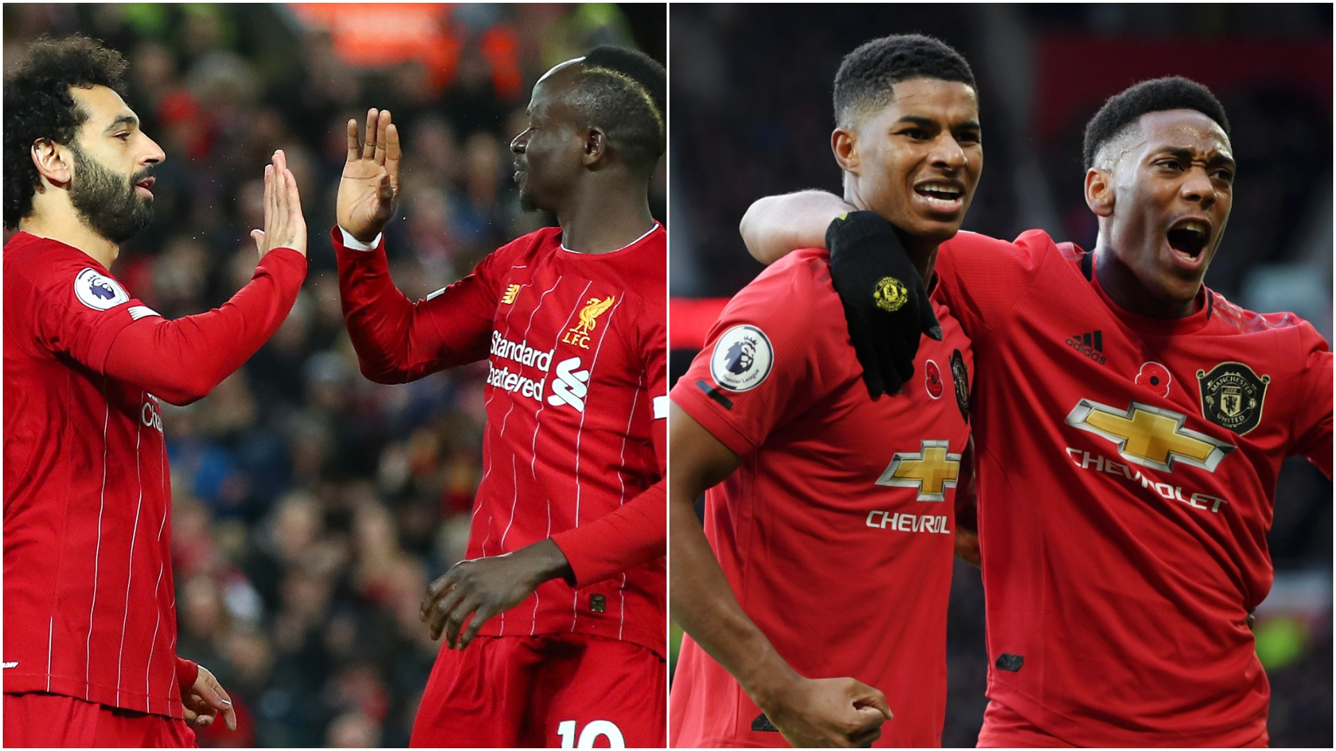 Liverpool V Man Utd How Rashford & Martial Pare To Salah