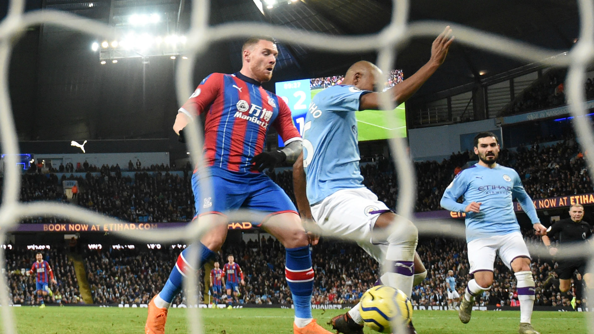 Manchester City 2-2 Crystal Palace: Aguero brace in vain as Palace pilfer point