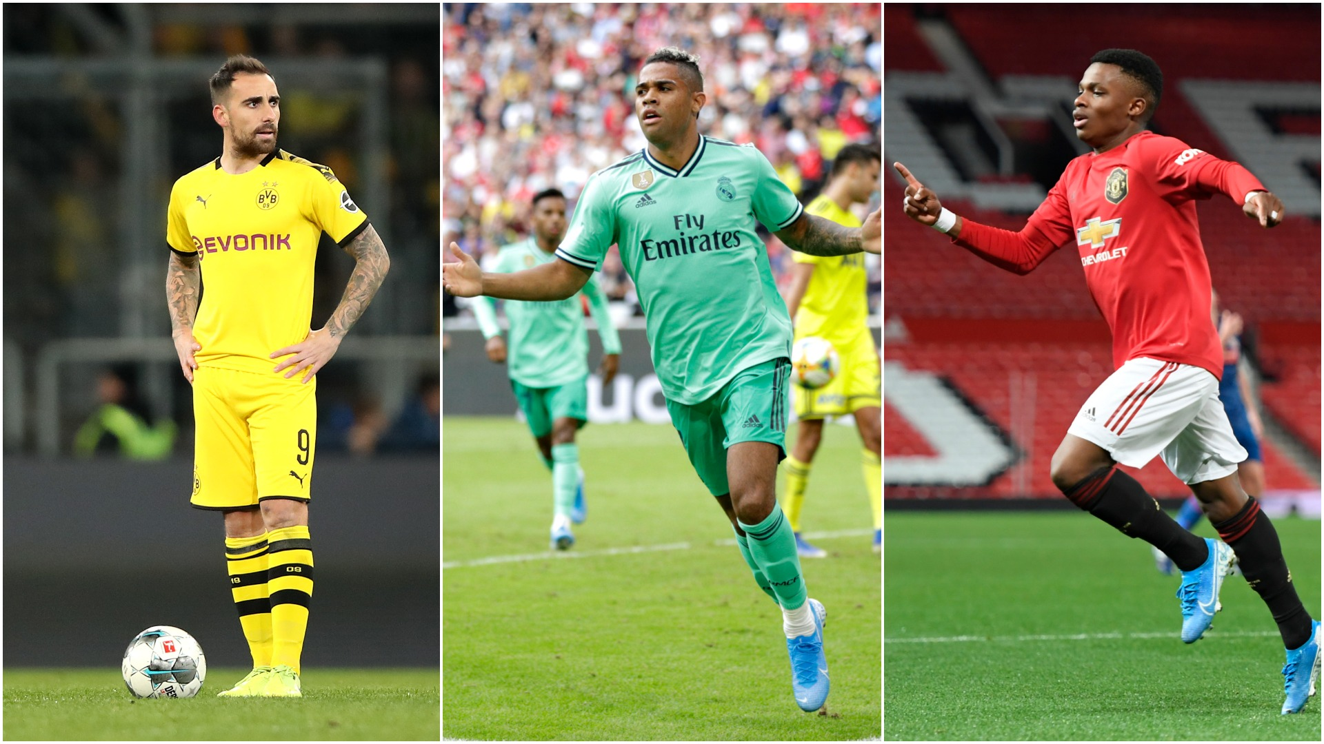 Alcacer, Mariano and the 'short-term options' Man Utd could target after Rashford injury