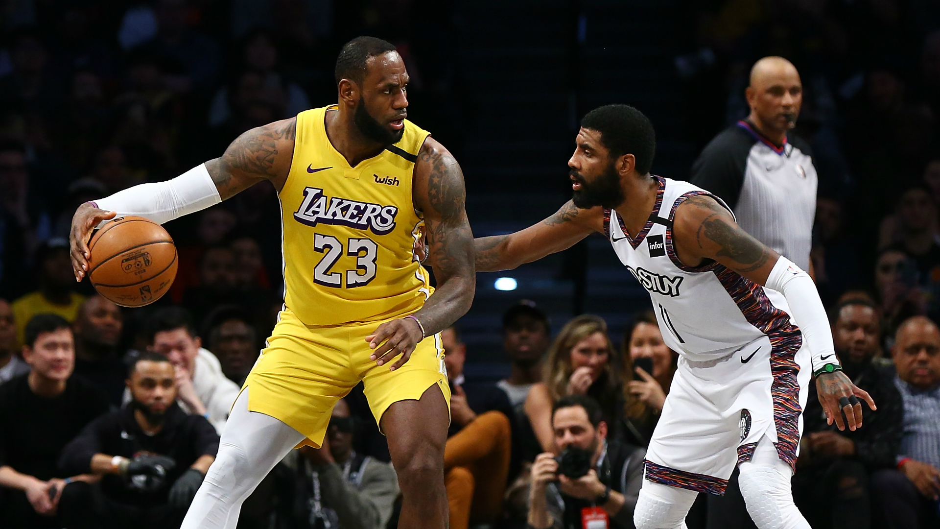 LeBron outscores Irving in Lakers' victory, Doncic lifts Mavs
