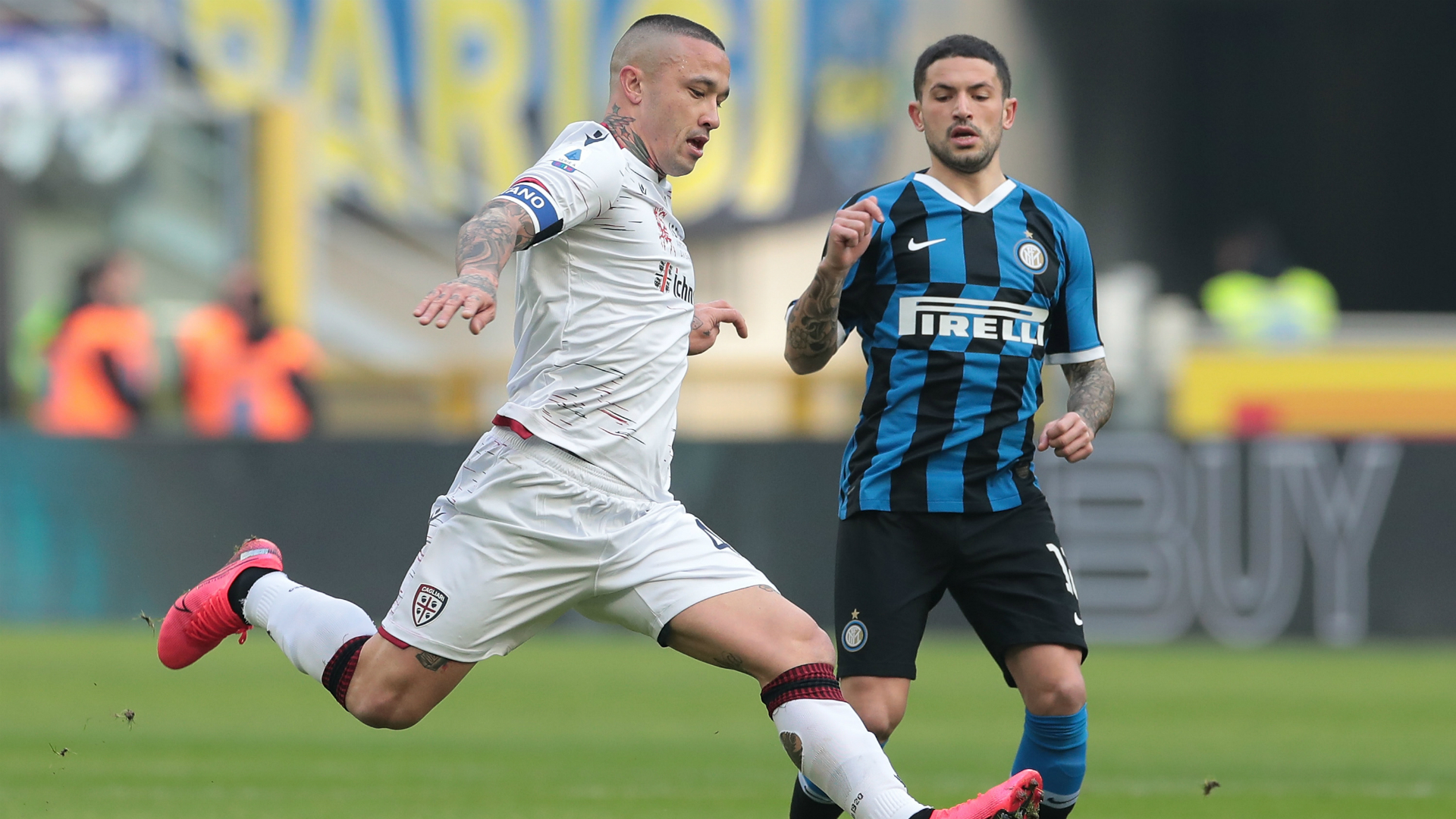 Inter 1-1 Cagliari: Nainggolan denies parent club as Martinez sees red for strop