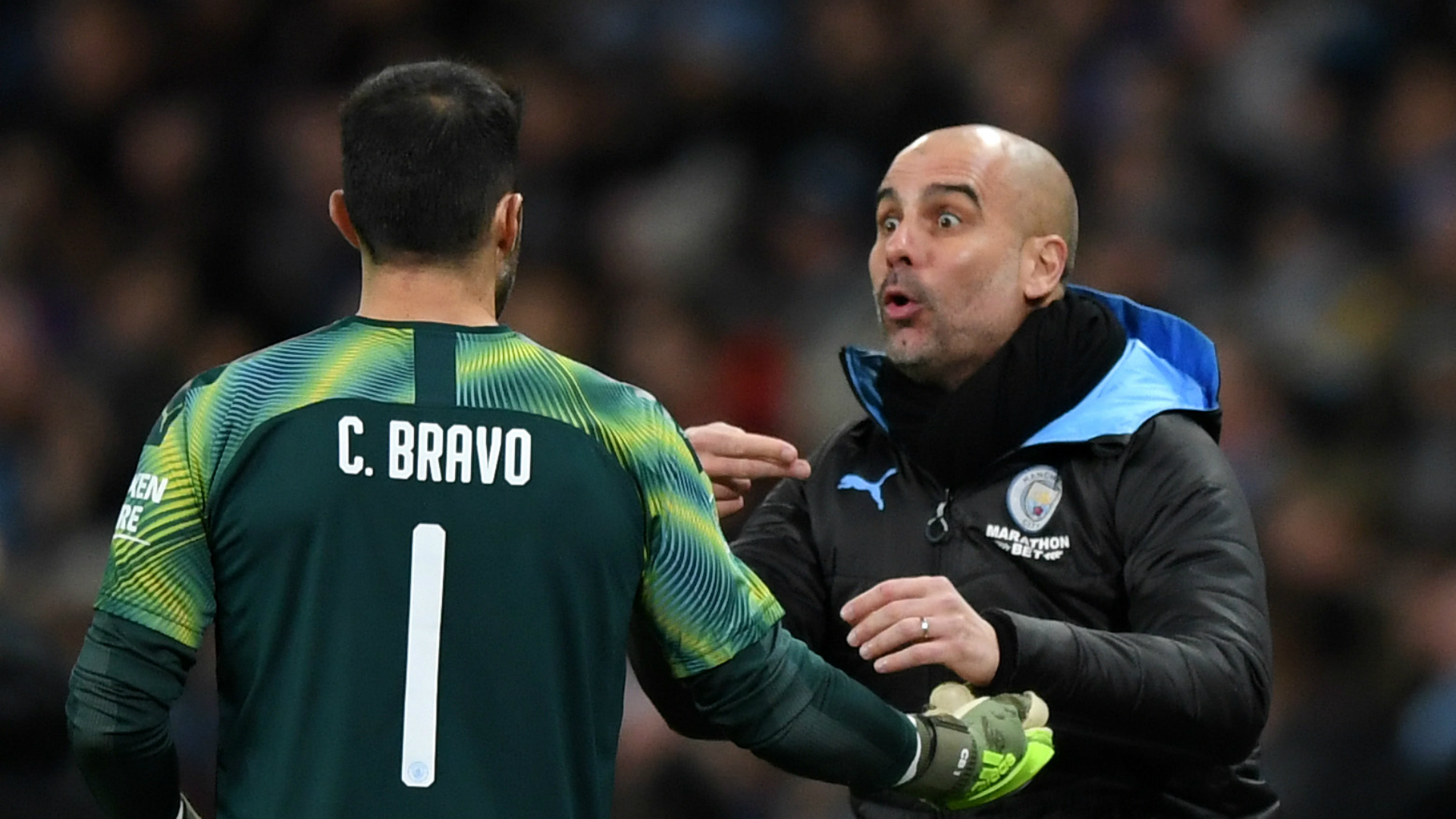 Bravo for Wembley! Guardiola confirms Chilean will be City's last line of defence against Villa