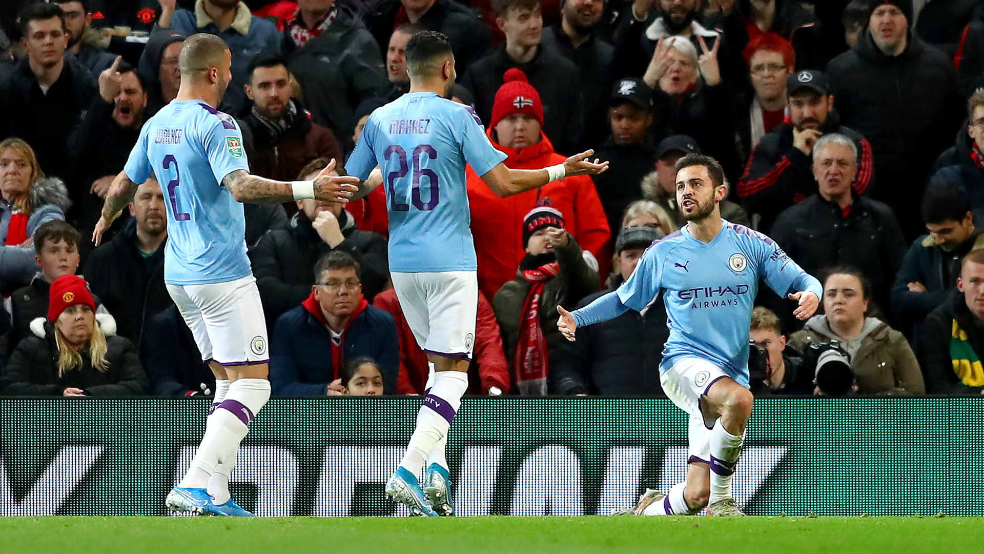 Manchester United 1-3 Manchester City: Final in sight for Guardiola as Bernardo Silva inspires victory