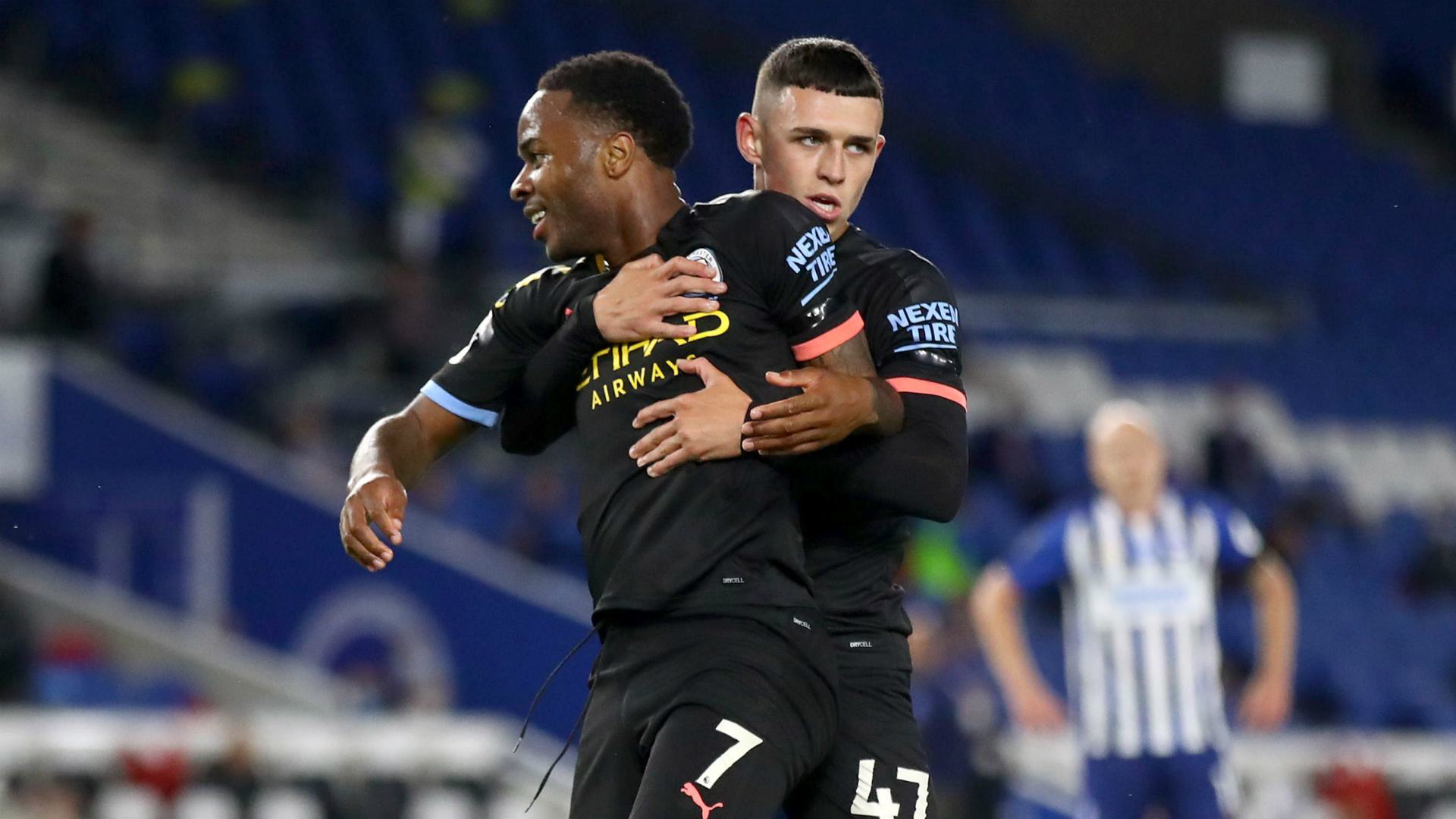 Brighton and Hove Albion 0-5 Manchester City: Sterling hits hat-trick as visitors run riot