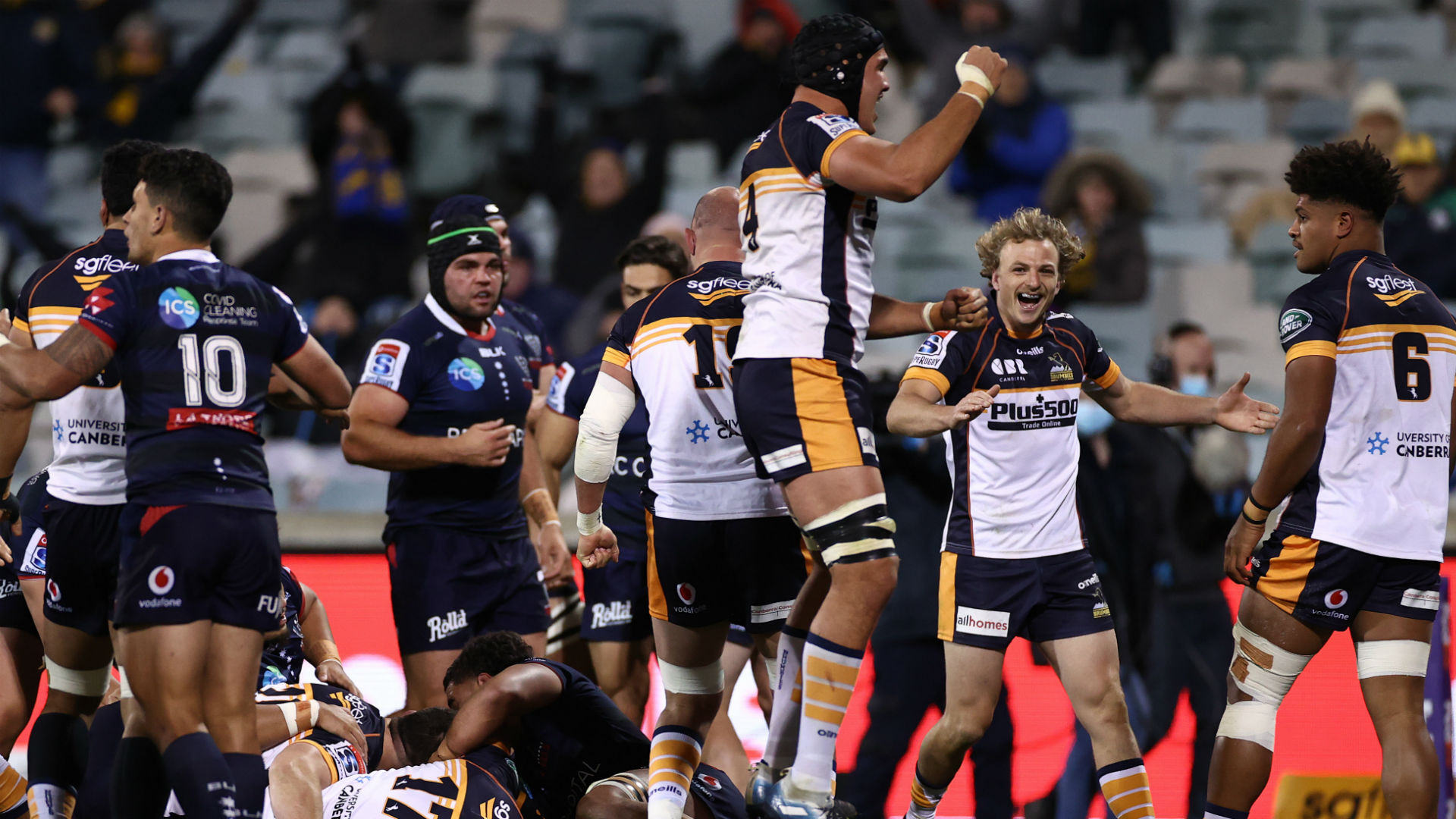 Brumbies hold off Rebels fightback