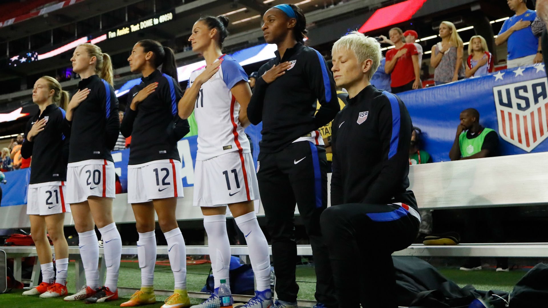 U.S. Soccer lifts ban on kneeling for anthem