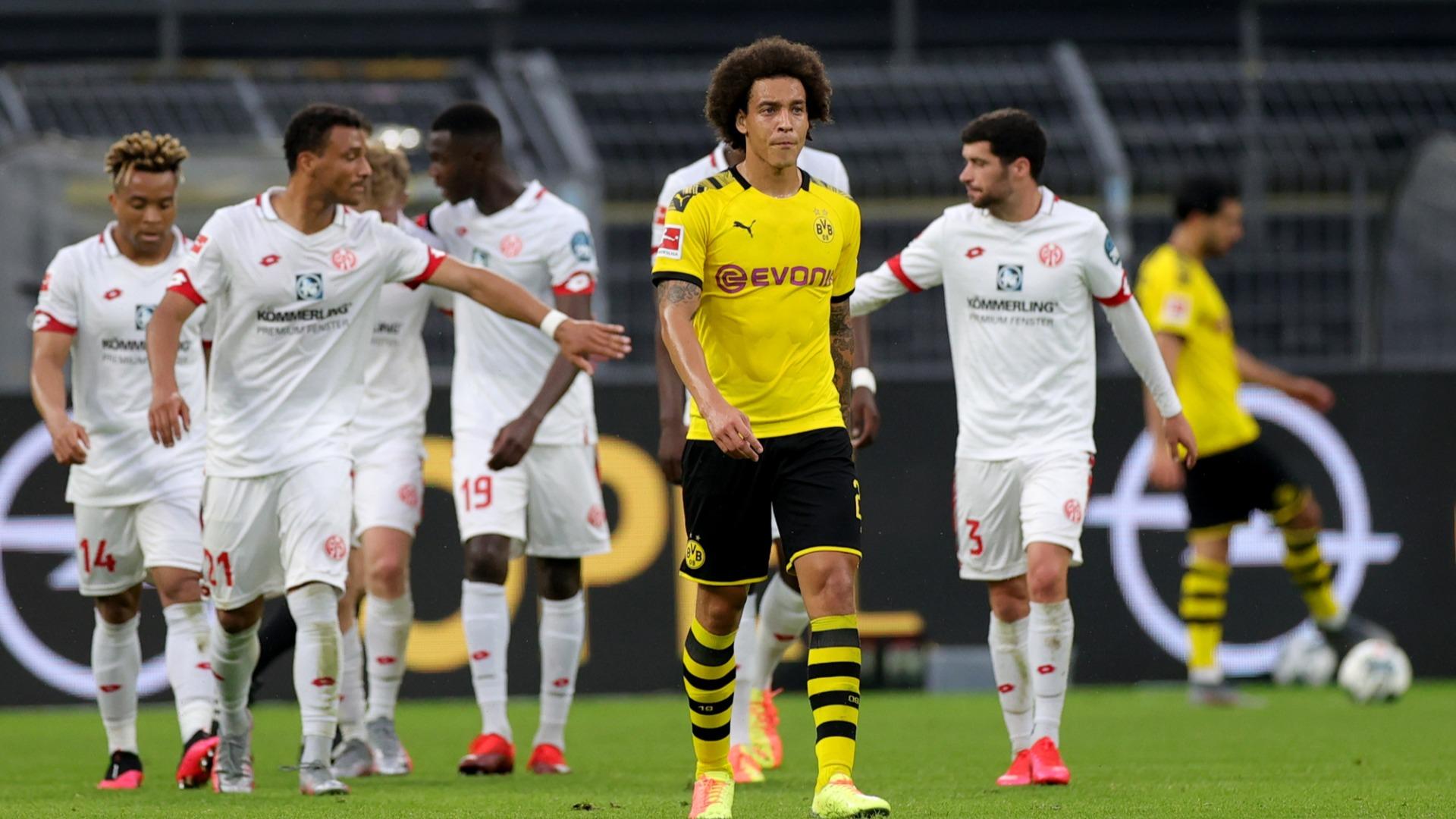 Borussia Dortmund 0-2 Mainz: Shock loss has Favre's men looking over their shoulder