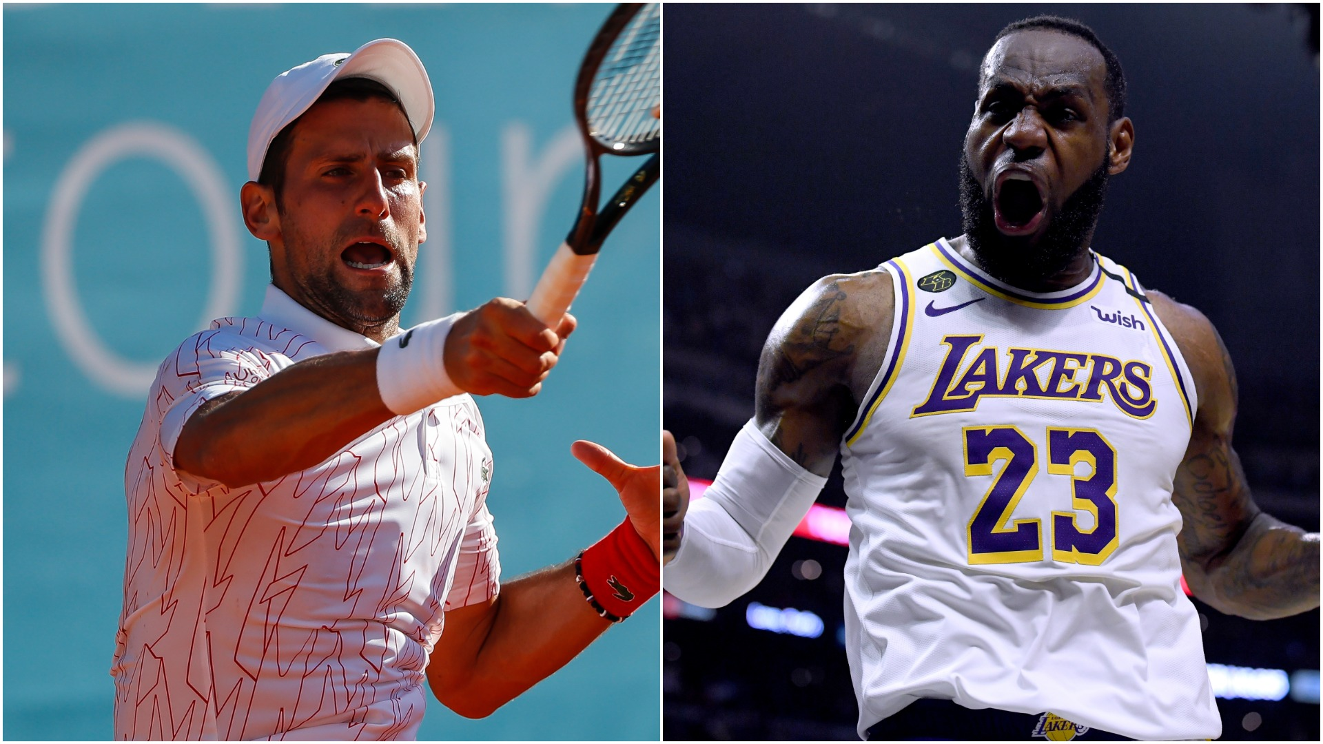 Djokovic wins compliment from Lebron James for basketball skills