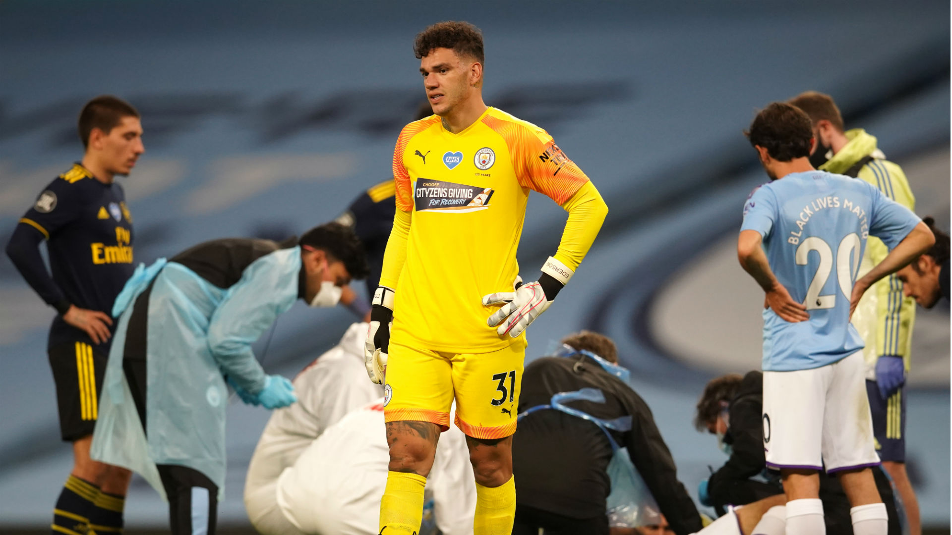 Ederson apologised to Man City team-mate Garcia after horror clash