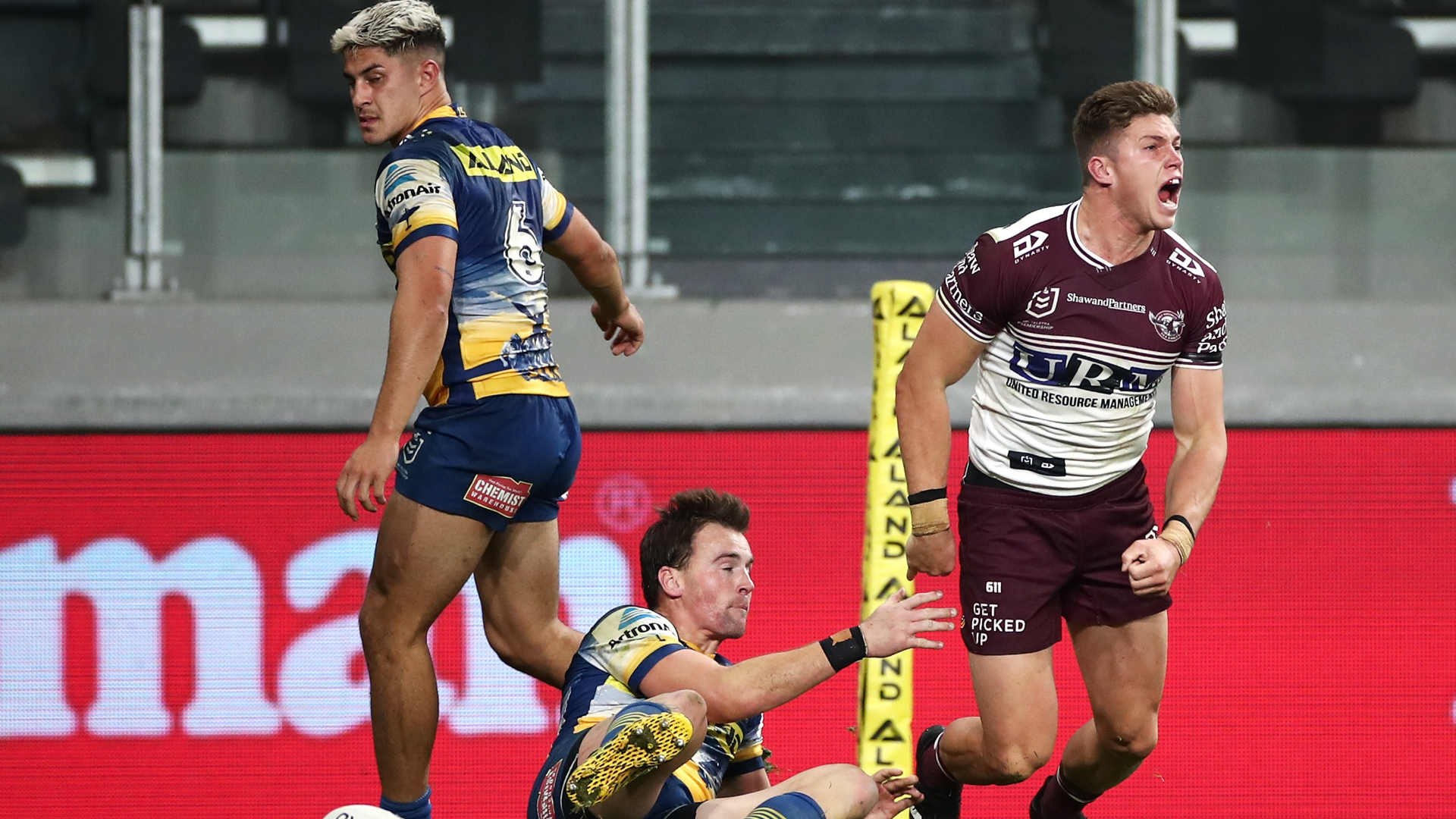 Sea Eagles denied by forward pass as Ramien leads Sharks to first win