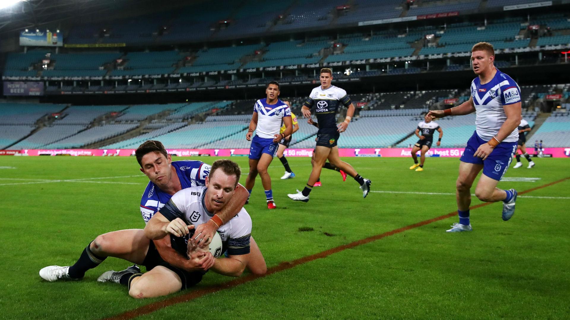 Canterbury Bulldogs 16-24 North Queensland Cowboys: Taumalolo runs riot
