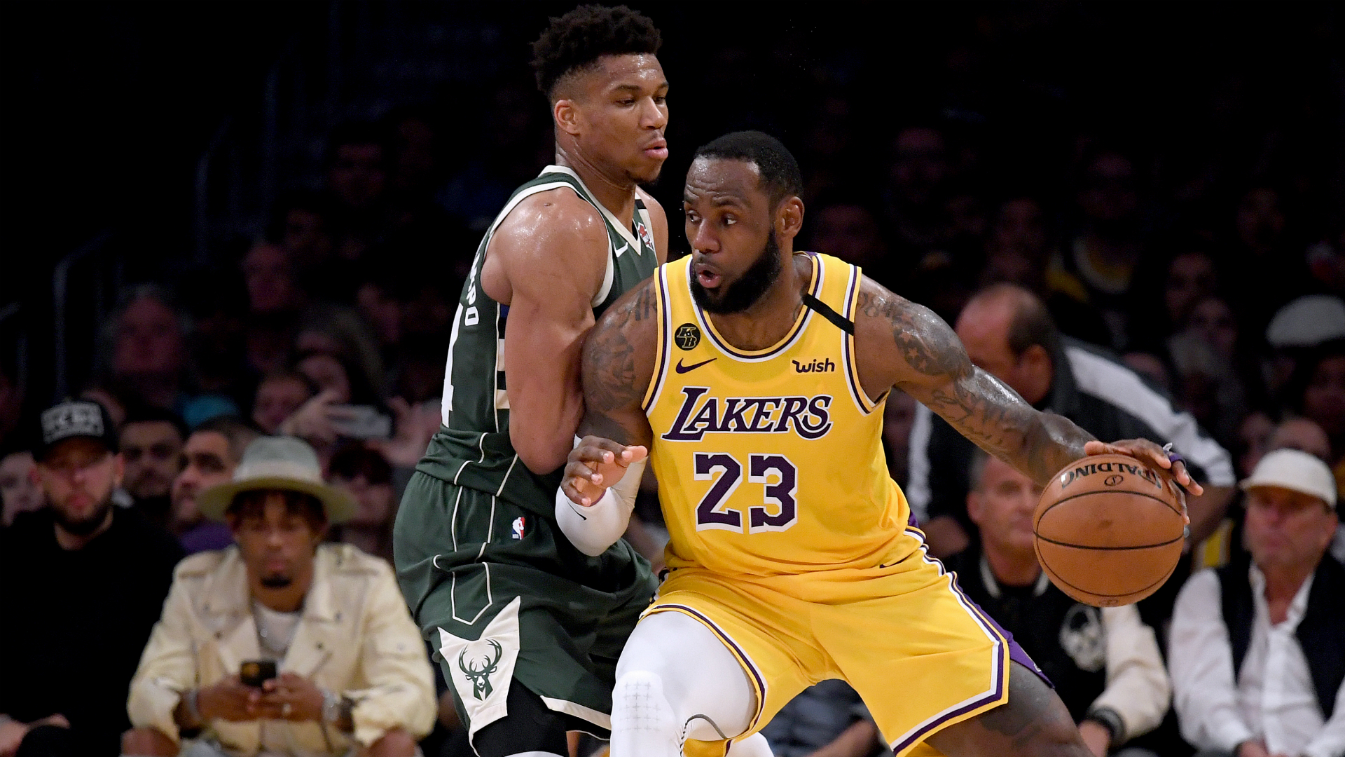 LeBron Lakers' take down Giannis & Bucks to clinch playoff spot, Baynes makes history