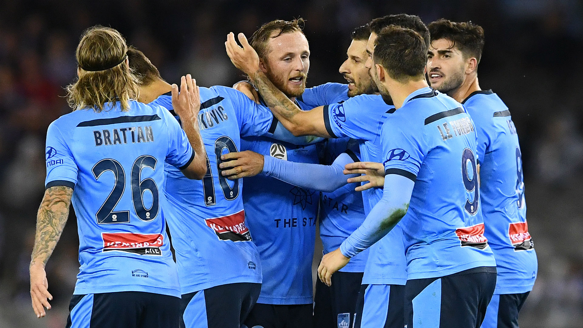 A-League: Le Fondre on target as leaders Sydney thrash Victory