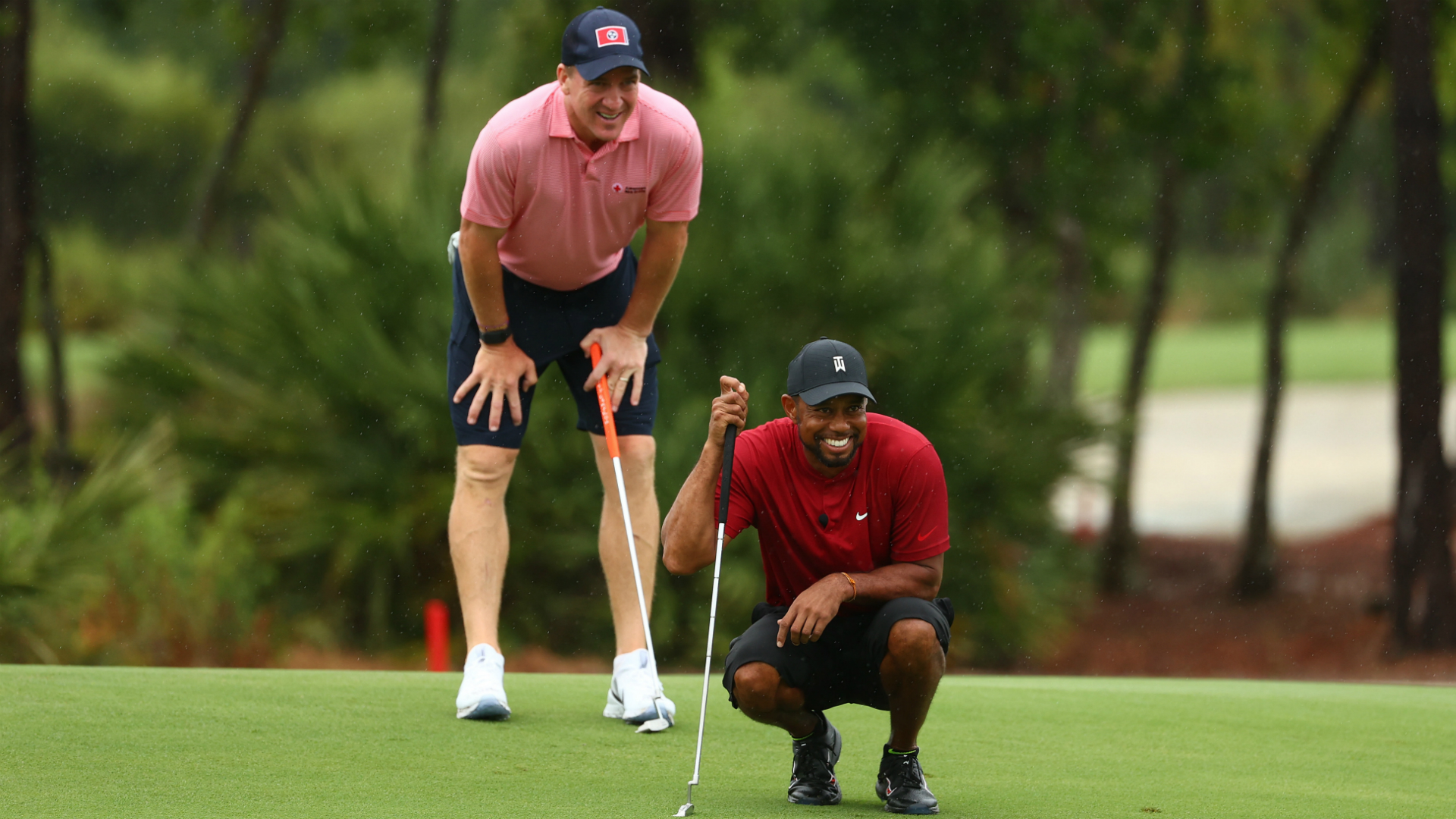 The Match: Tiger and Manning hold off rallying Mickelson and Brady