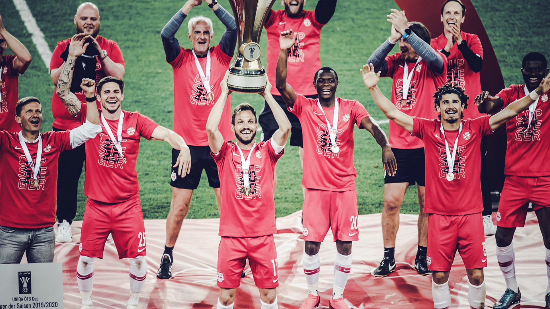Coronavirus: Salzburg celebrate cup success in socially distant fashion as season restarts