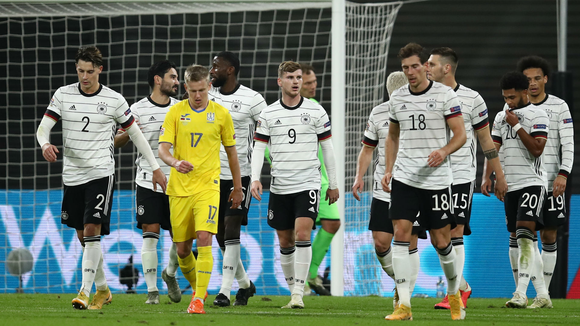 Germany 3-1 Ukraine: Werner double sets up Nations League showdown with Spain