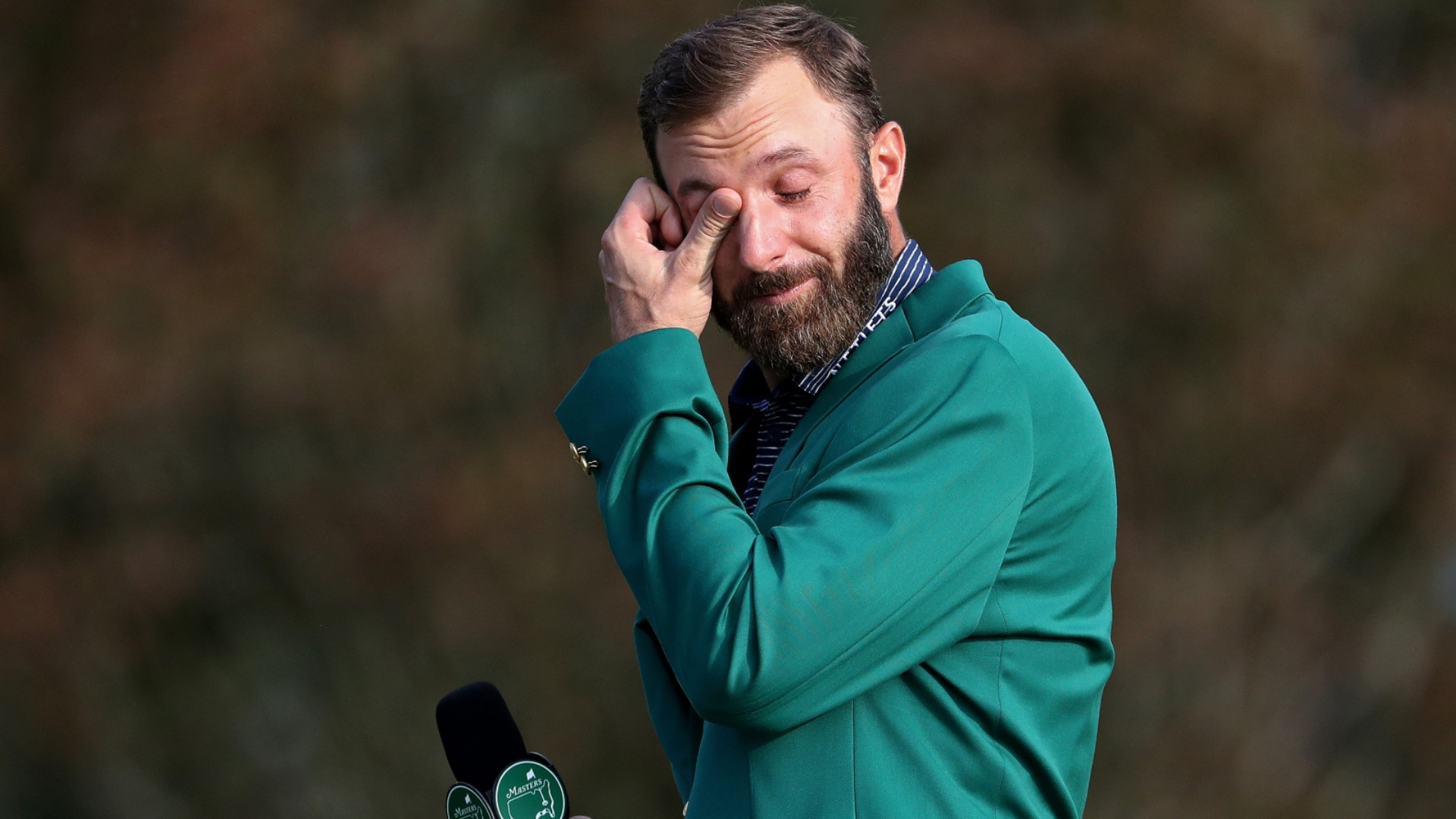 The Masters: Johnson admits to tears on 18th after 'dream' Augusta triumph